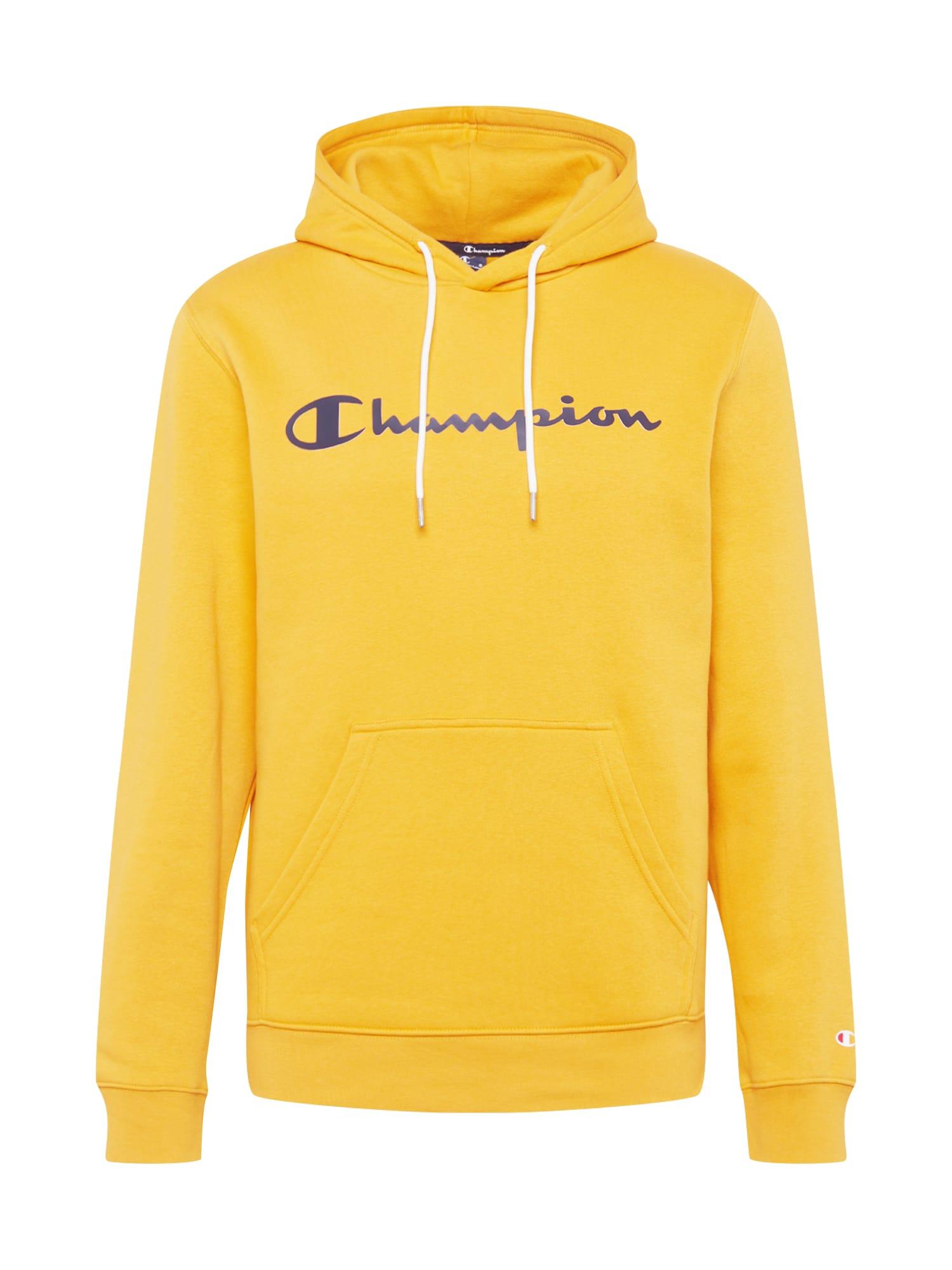 Champion Authentic Athletic Apparel Megztinis be užsegimo mėlyna / geltona
