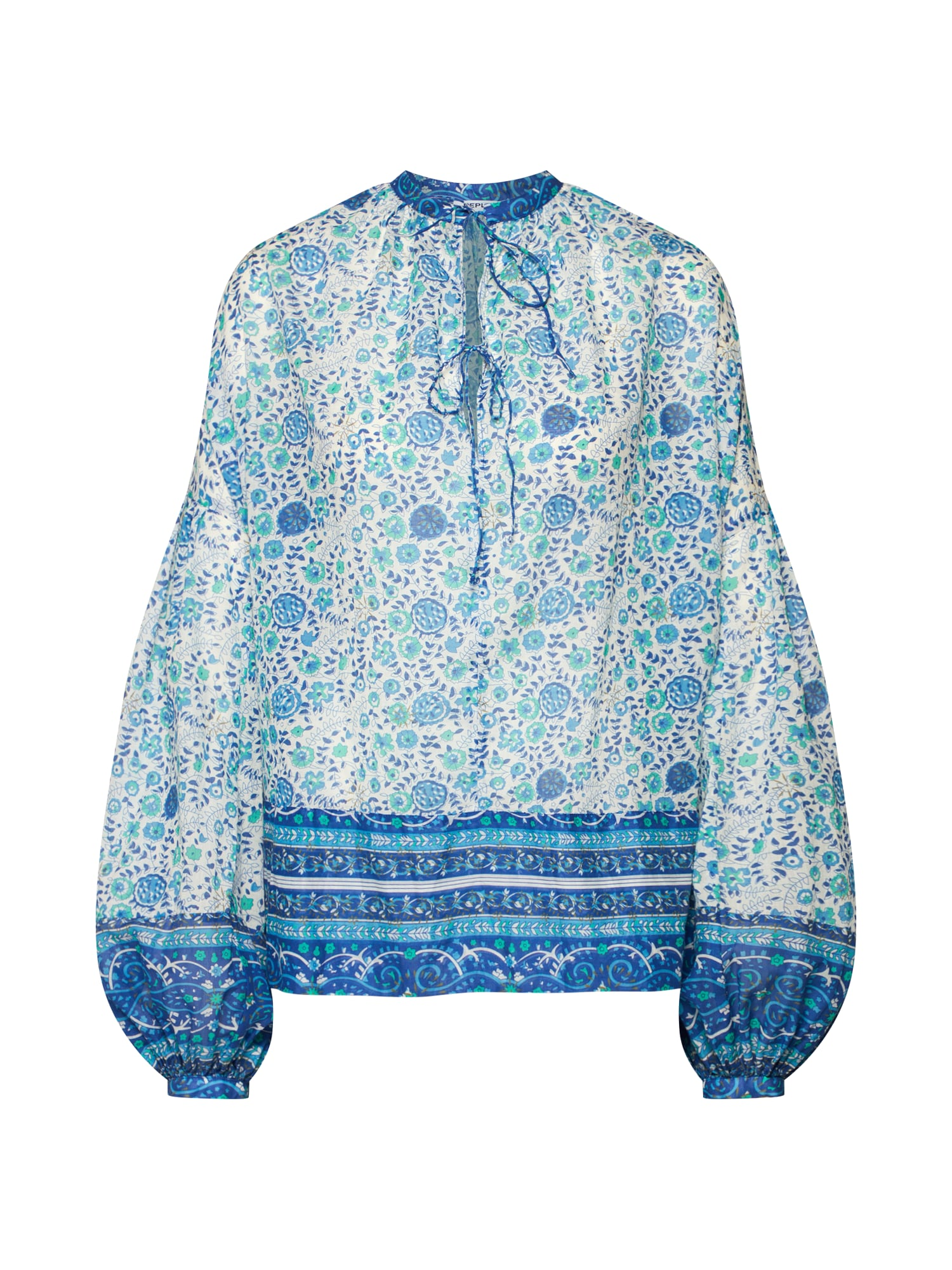REPLAY Tunika mėlyna / nefrito spalva / balta