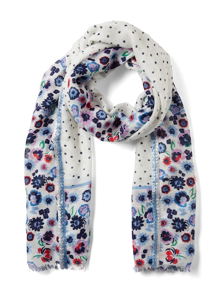 Schals für Frauen - TOM TAILOR Schal mischfarben weiß  - Onlineshop ABOUT YOU