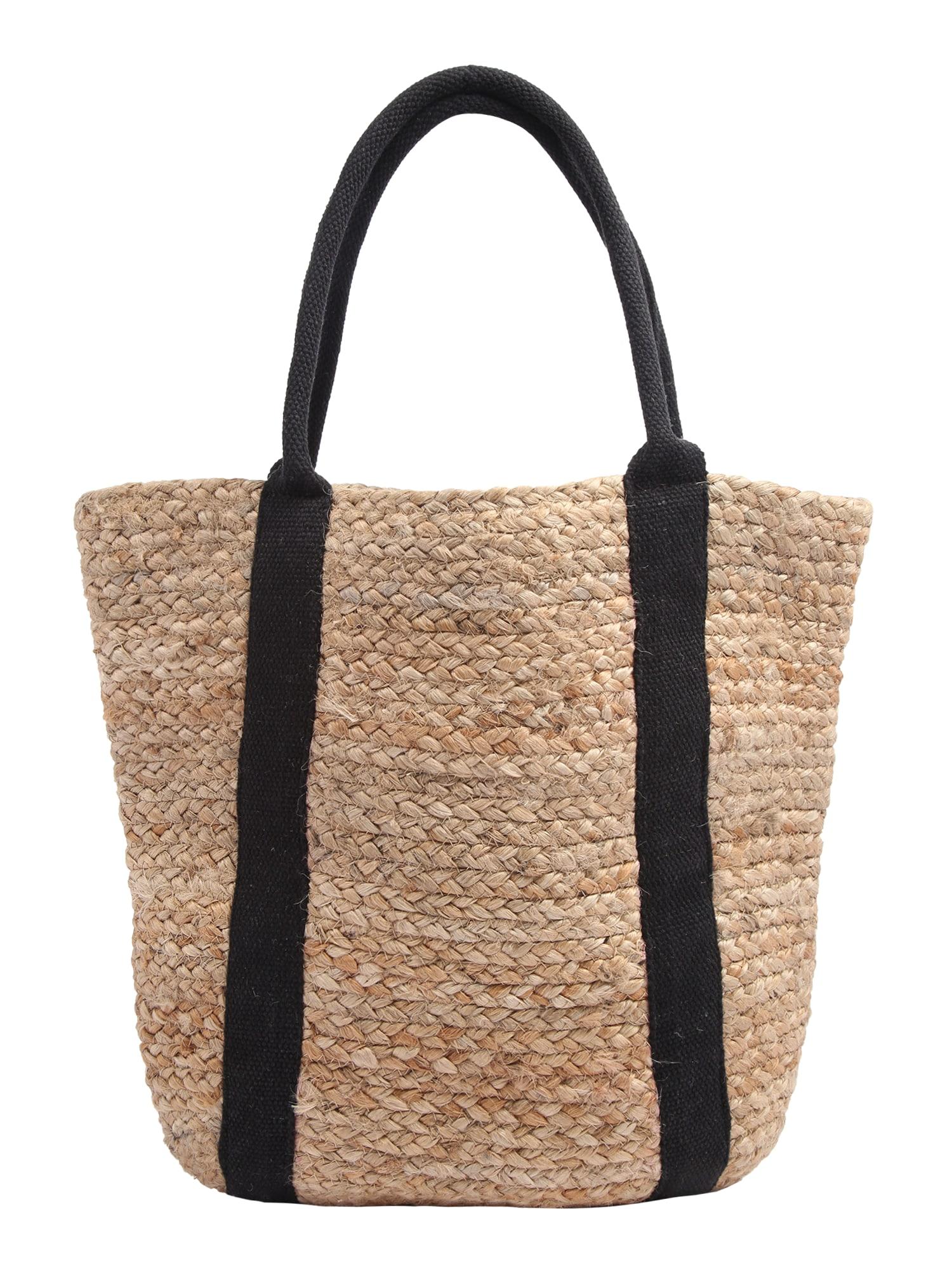 PIECES Pirkinių krepšys 'PCNALA' juoda / smėlio