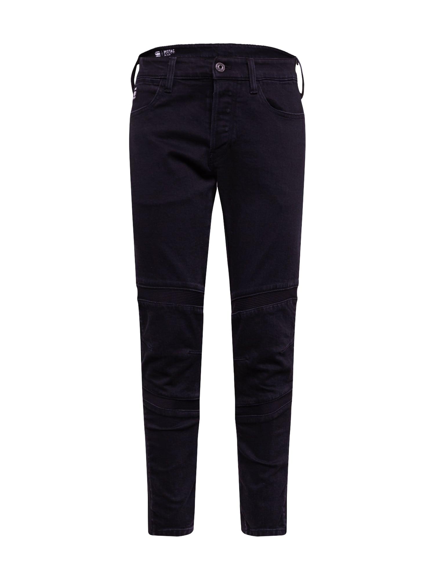 G-Star RAW Džinsai 'Motac 3D Slim' juodo džinso spalva