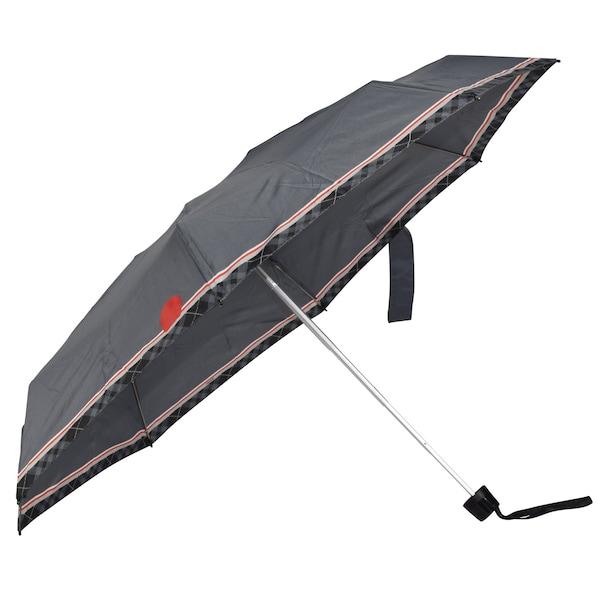 Regenschirme für Frauen - KNIRPS Taschenschirm basaltgrau rot weiß  - Onlineshop ABOUT YOU