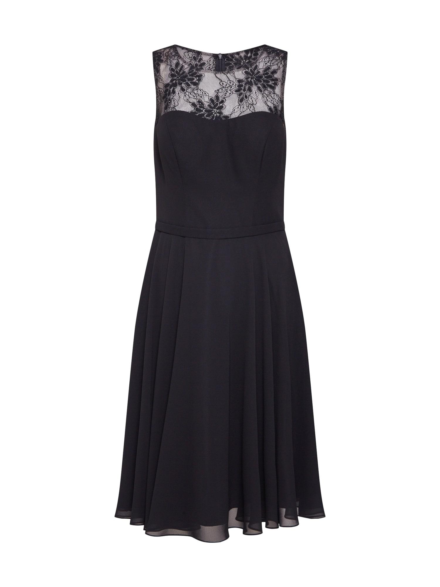 Koktejlové šaty černá Mascara