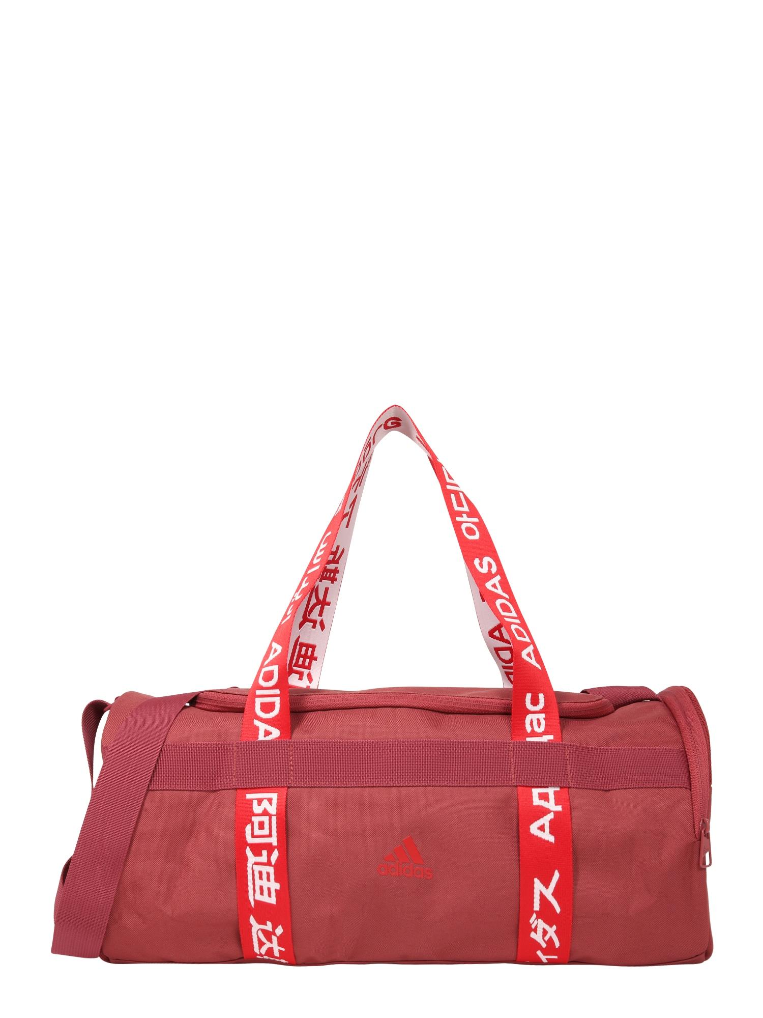 ADIDAS PERFORMANCE Športová taška  pastelovo červená / svetločervená / biela