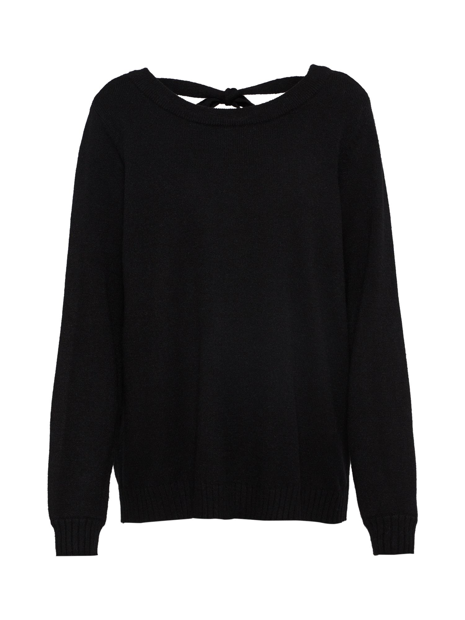 VILA Megztinis margai juoda