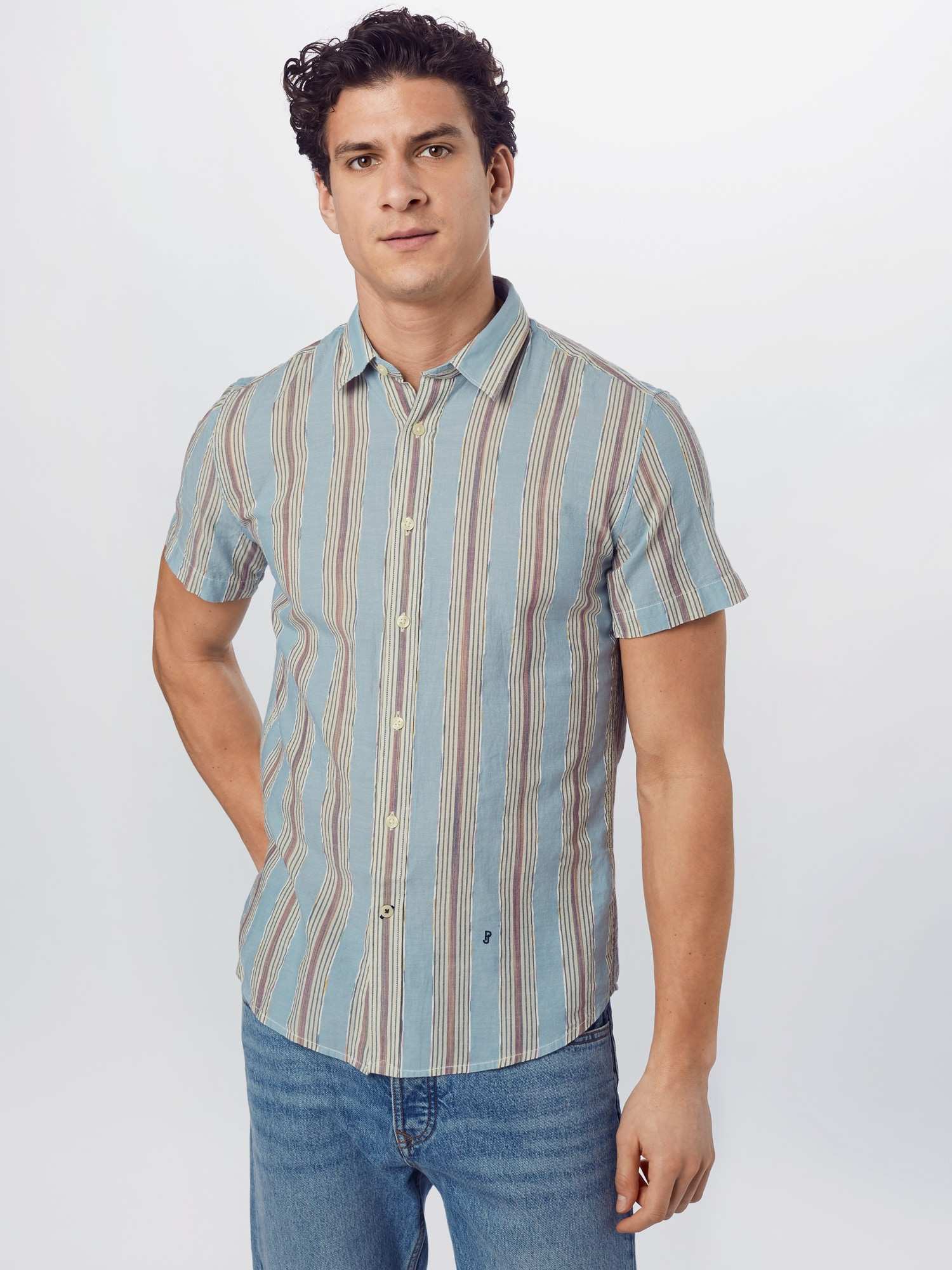 Pepe Jeans Skjorta 'LAWRENCE'  opal / blandade färger