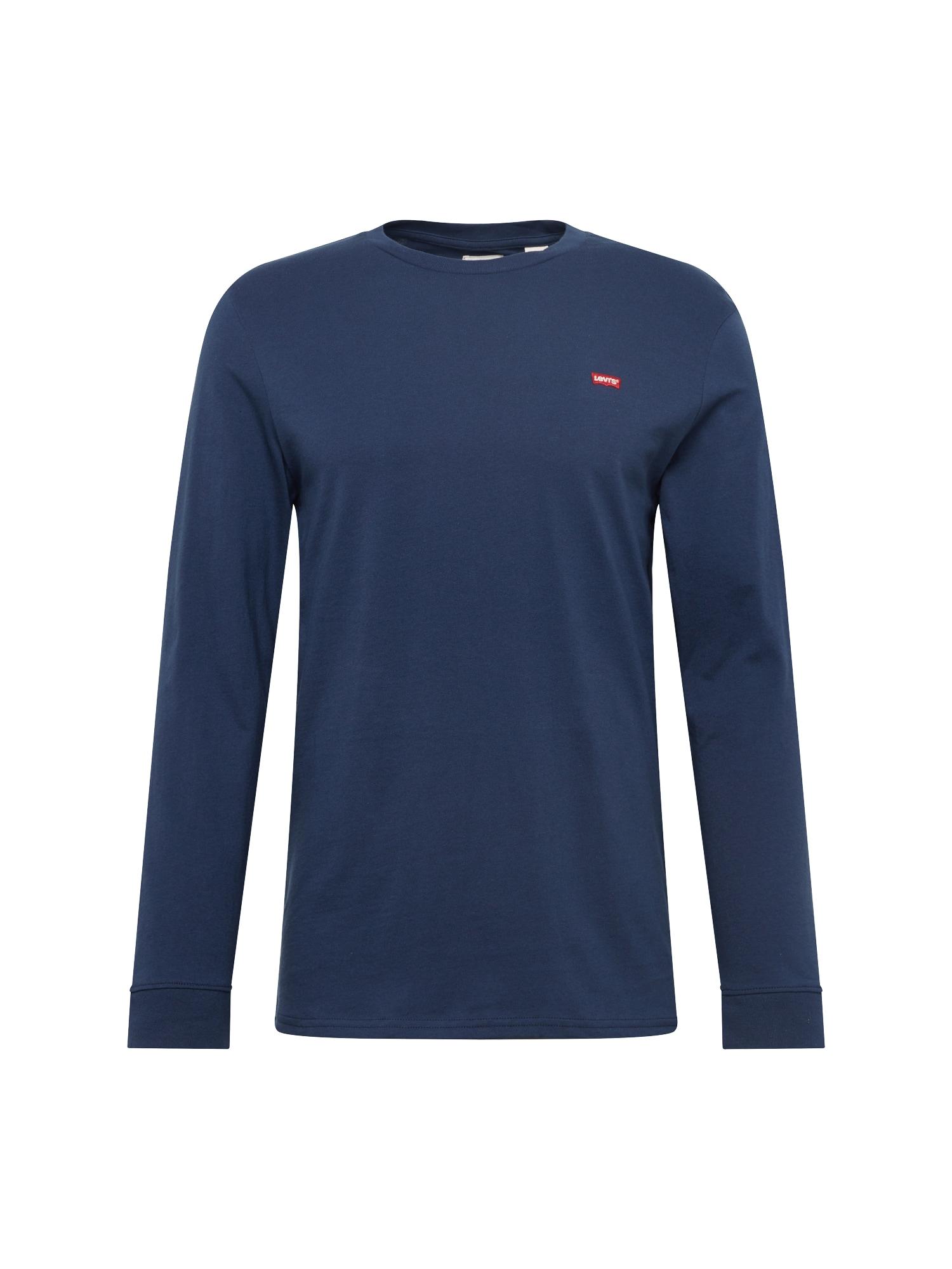 LEVI'S Marškinėliai 'LS ORIGINAL HM TEE' tamsiai mėlyna