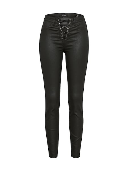 Hosen für Frauen - GUESS Jeans 'LACE UP' schwarz  - Onlineshop ABOUT YOU