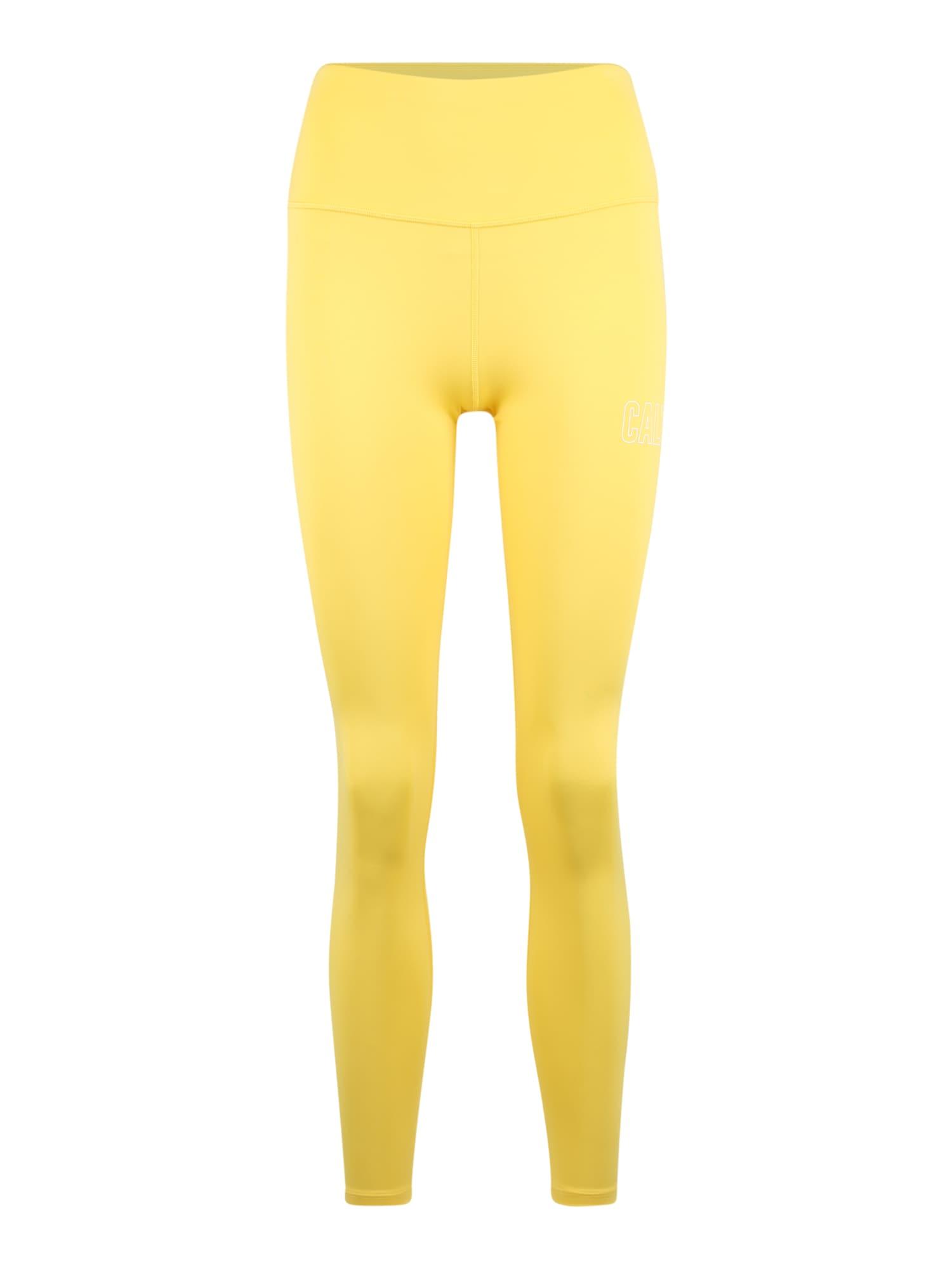 Calvin Klein Performance Sportinės kelnės 'FULL LENGTH TIGHT' geltona