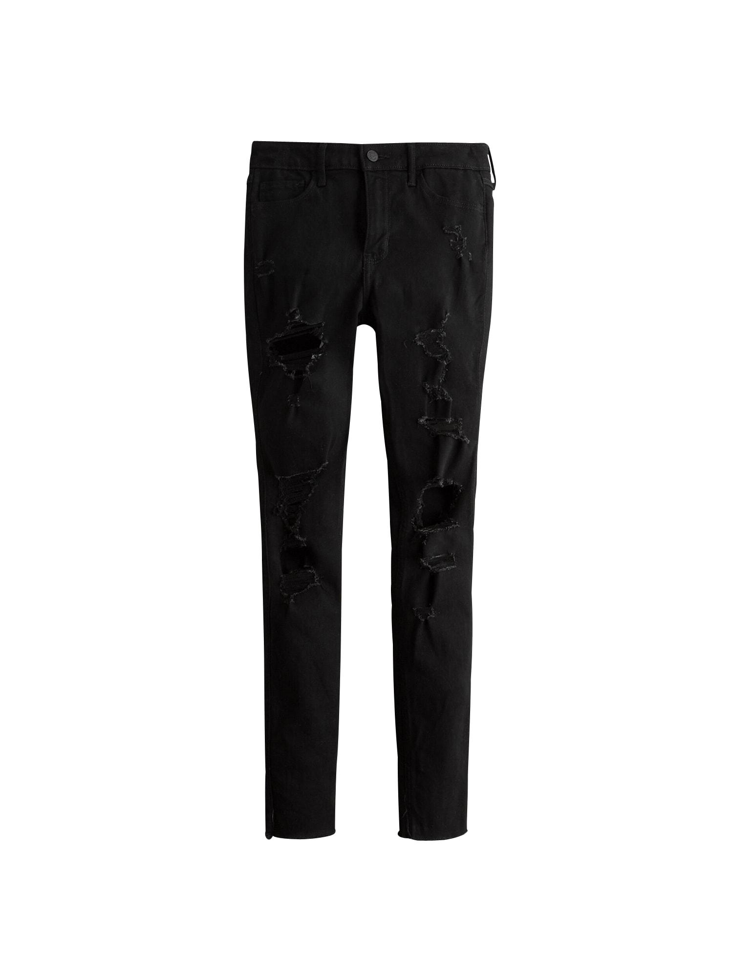 HOLLISTER Džinsai juodo džinso spalva