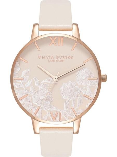 Uhren für Frauen - Olivia Burton Damenuhr beige gold weiß  - Onlineshop ABOUT YOU
