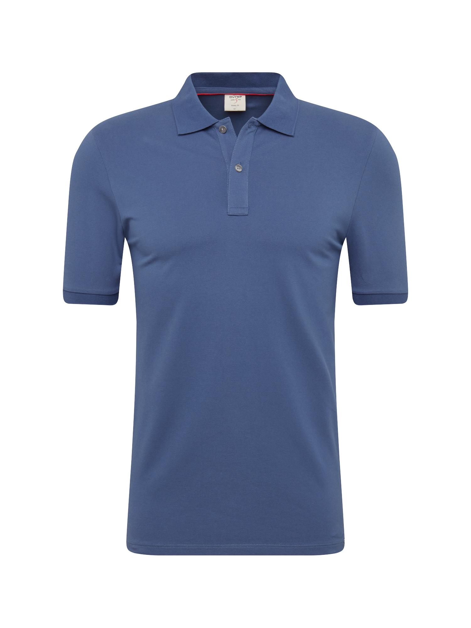 Tričko Level 5 Casual Polo Cotton indigo OLYMP