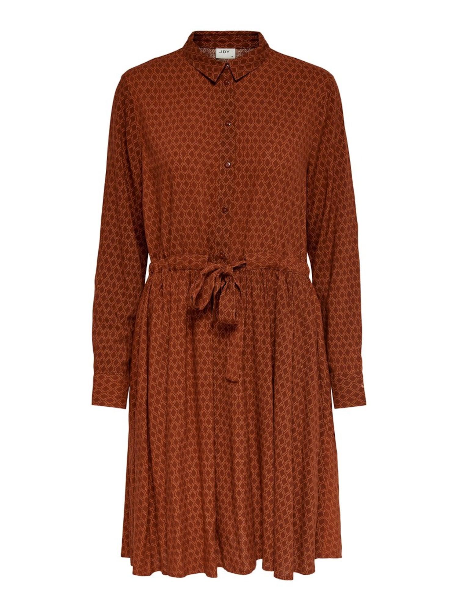 JACQUELINE de YONG Palaidinės tipo suknelė gelsvai pilka spalva / tamsiai raudona