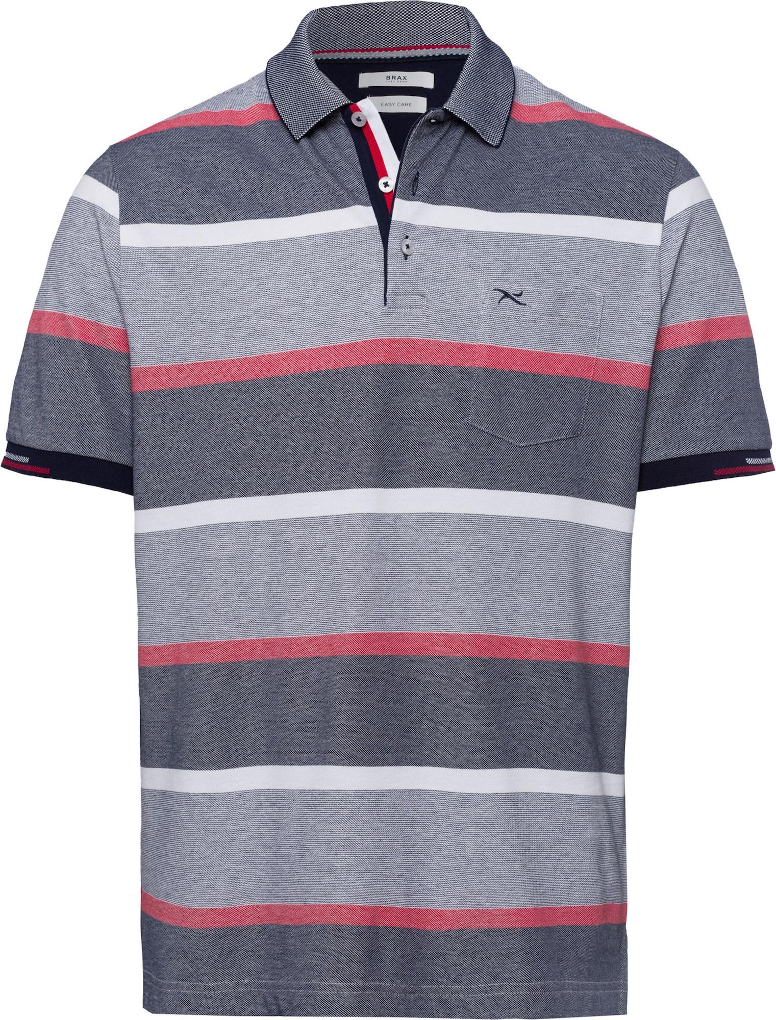 BRAX Marškinėliai 'Paco' pastelinė raudona / pilka / akmens / balta