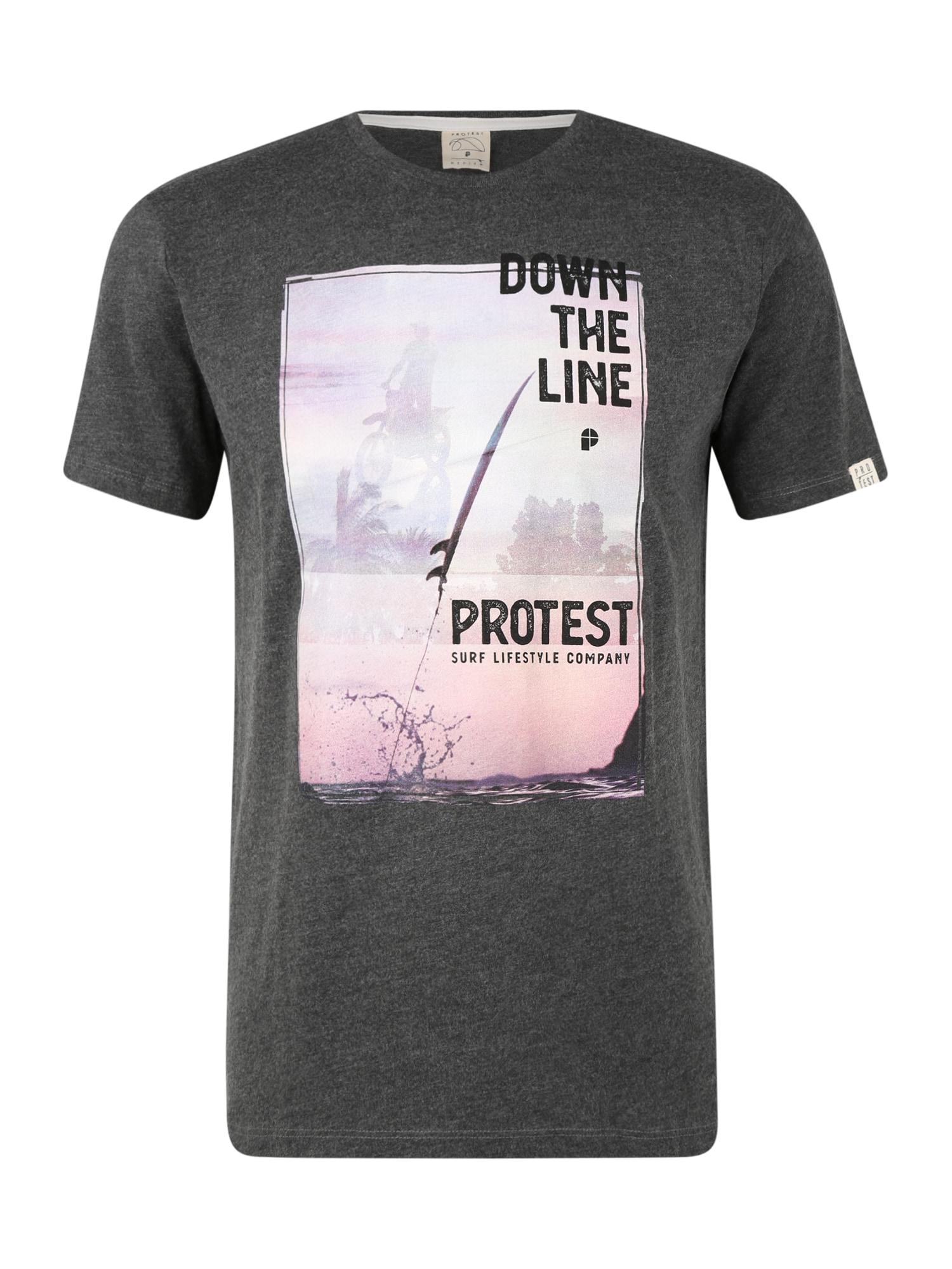 PROTEST Sportiniai marškinėliai 'DENVER' balta / juoda