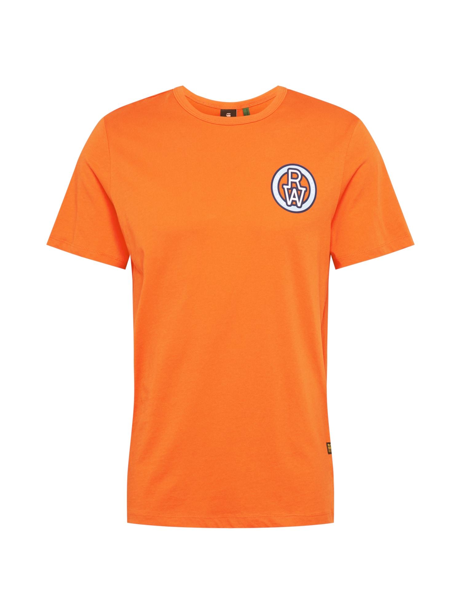 G-Star RAW Tričko  oranžová / námornícka modrá / biela