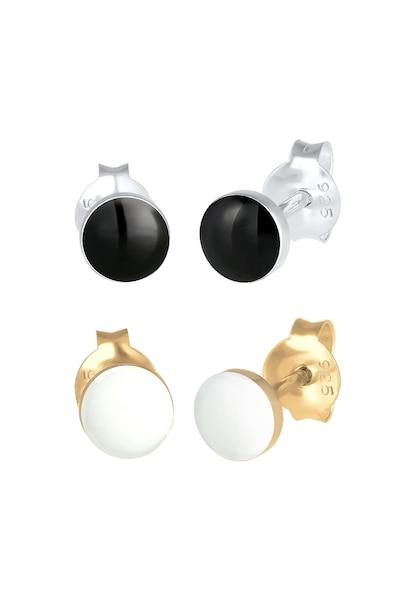 Ohrringe für Frauen - Ohrringe Bi Color Tri Color, Geo › ELLI › gold schwarz silber  - Onlineshop ABOUT YOU
