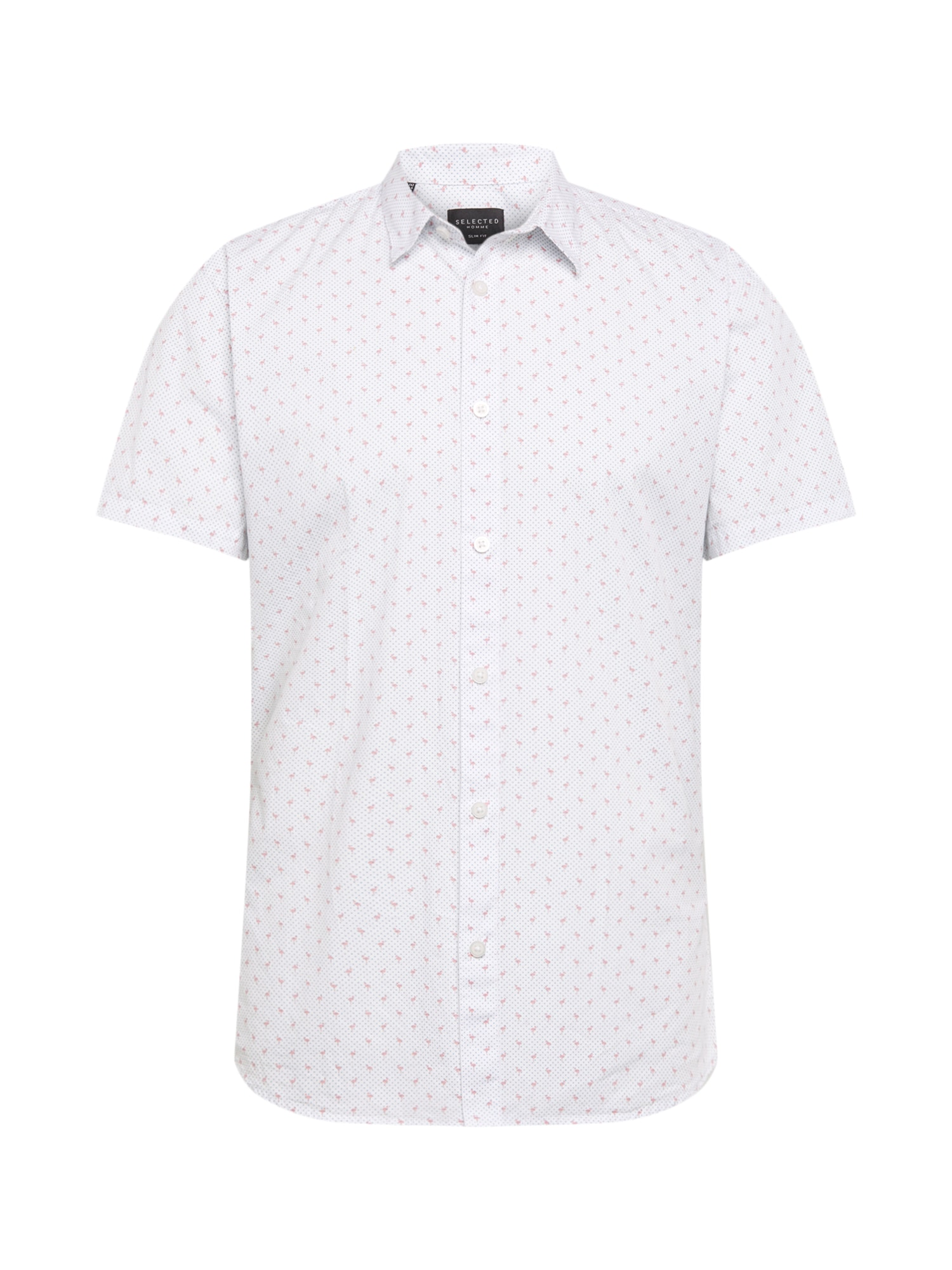 Košile pink bílá SELECTED HOMME