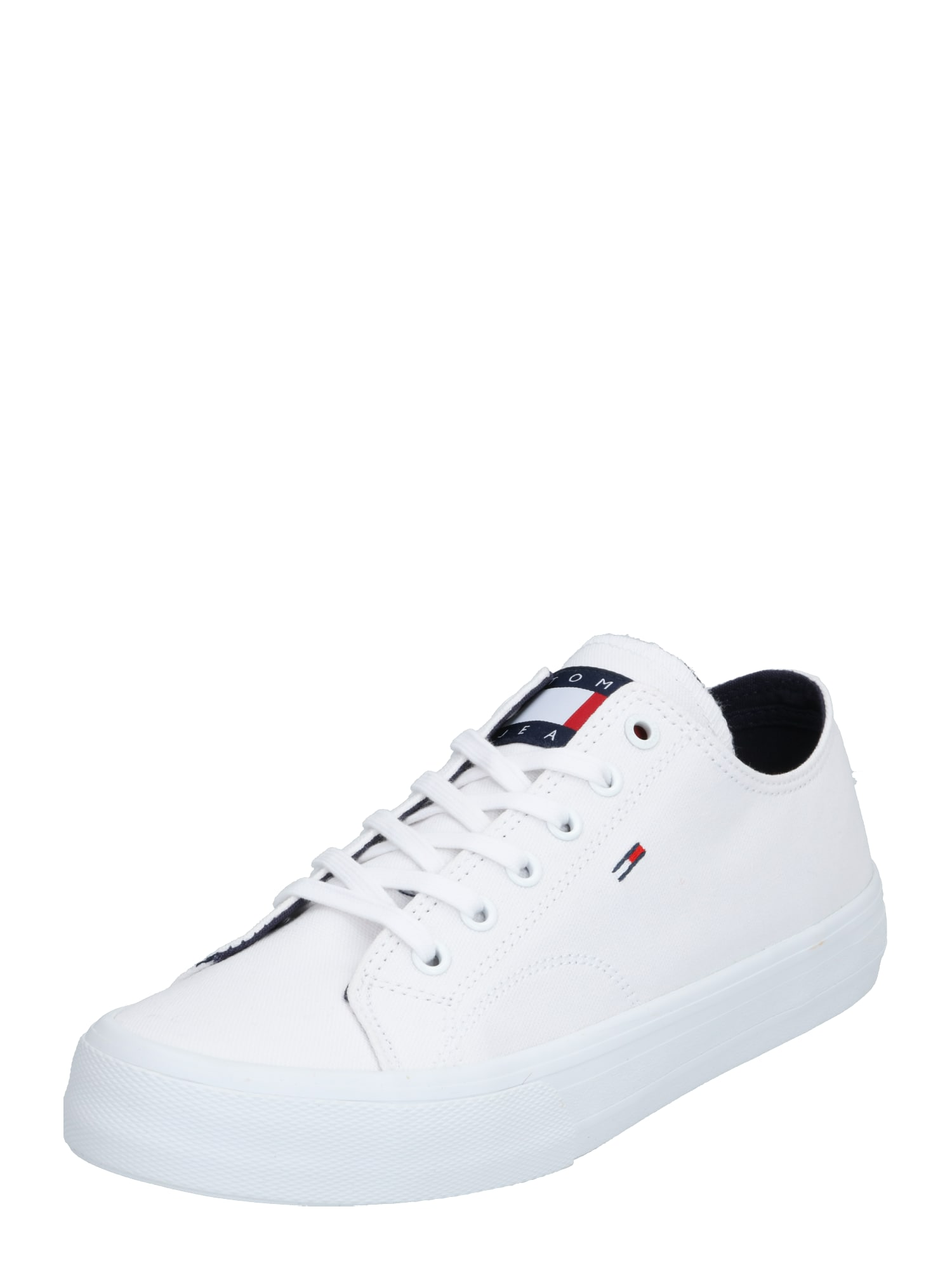 Tommy Jeans Sportbačiai be auliuko 'LONG LACE UP VULC' balta