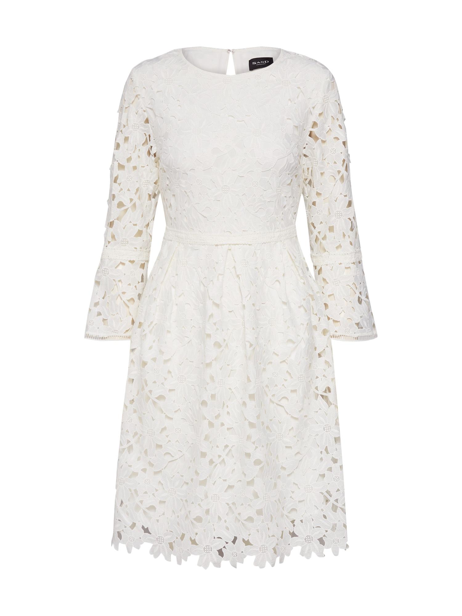 Koktejlové šaty Lunet bílá SAND COPENHAGEN