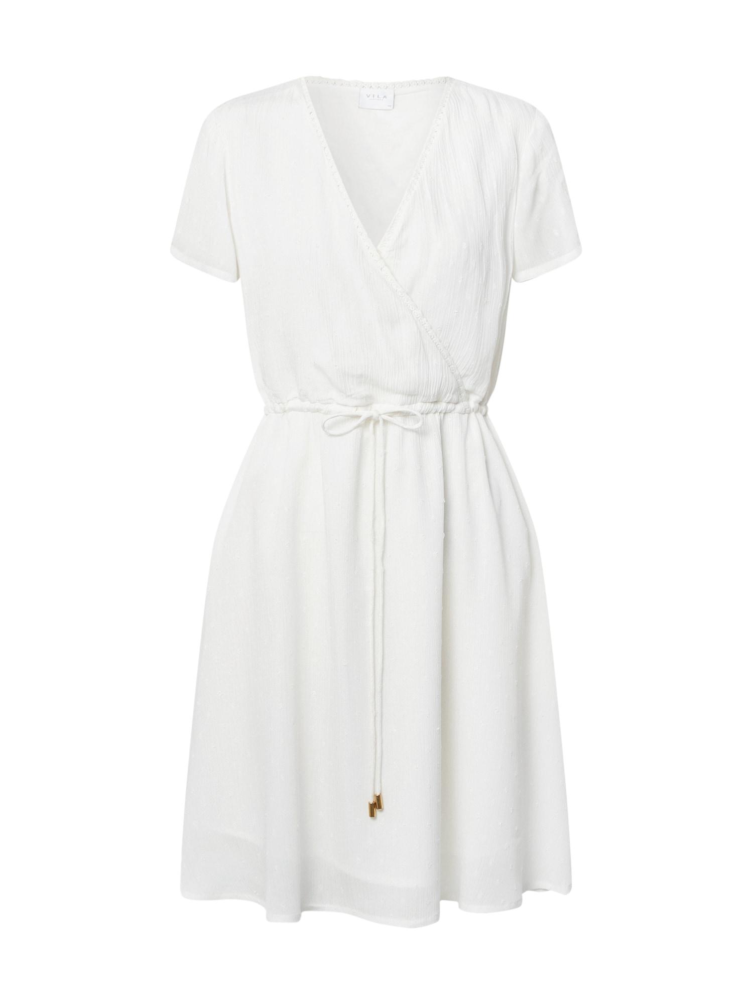 VILA Letné šaty 'Zolla'  šedobiela