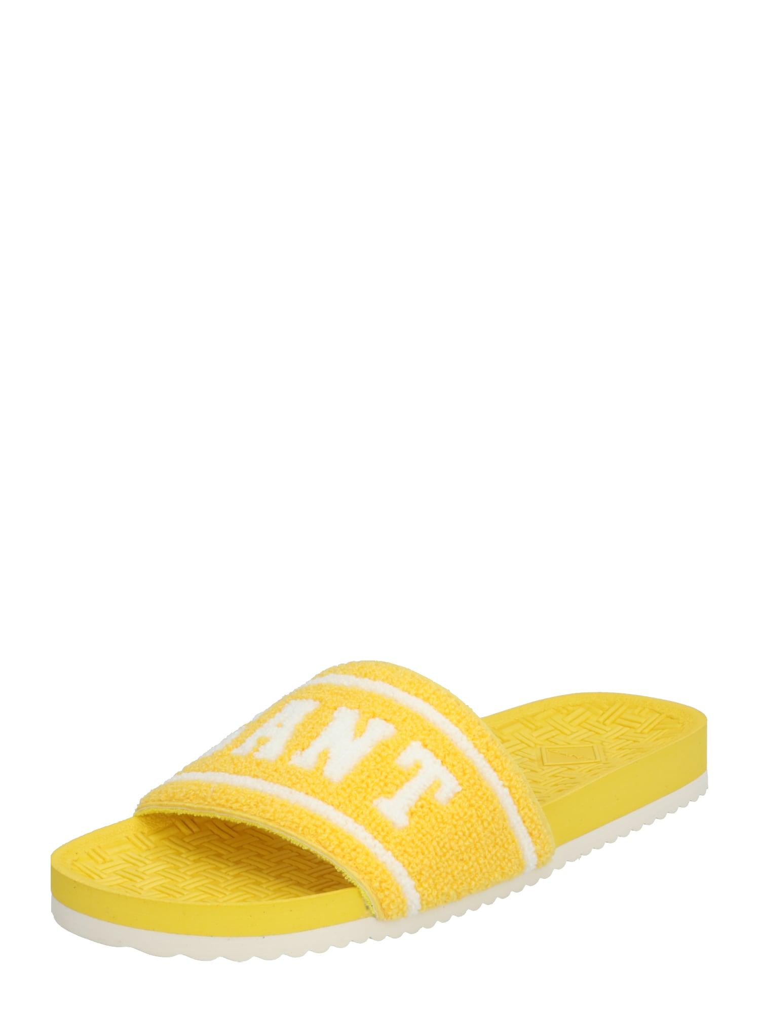 GANT Saboți 'Plagepool'  galben