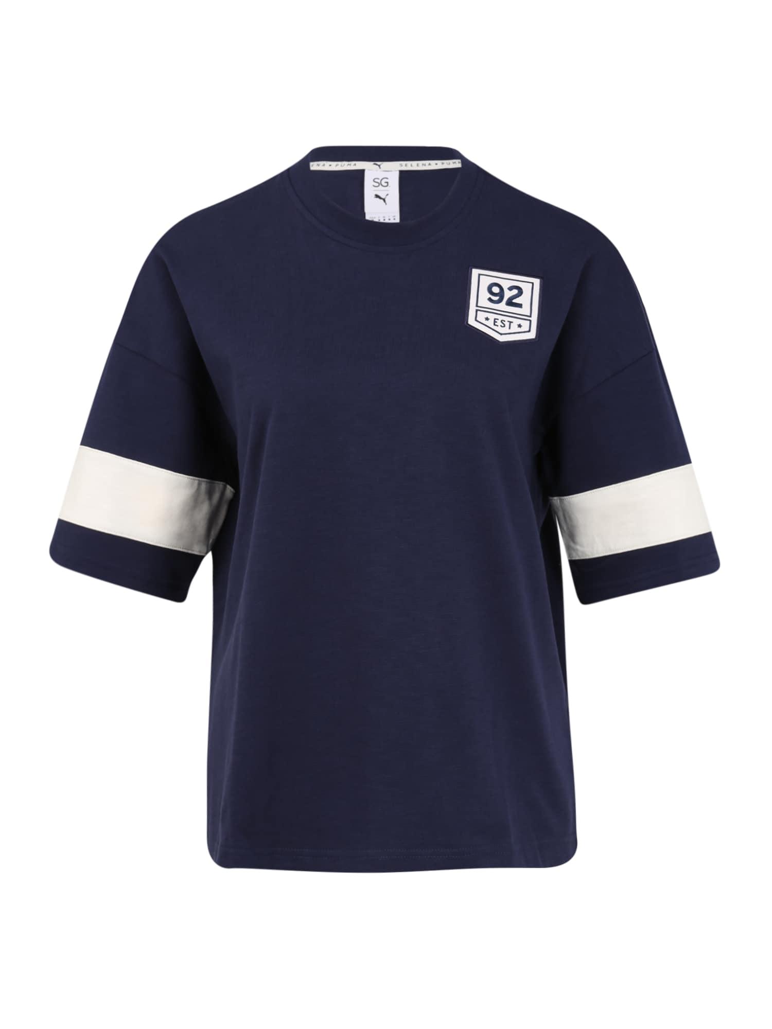 PUMA Sportiniai marškinėliai 'PUMA X SG' balta / tamsiai mėlyna
