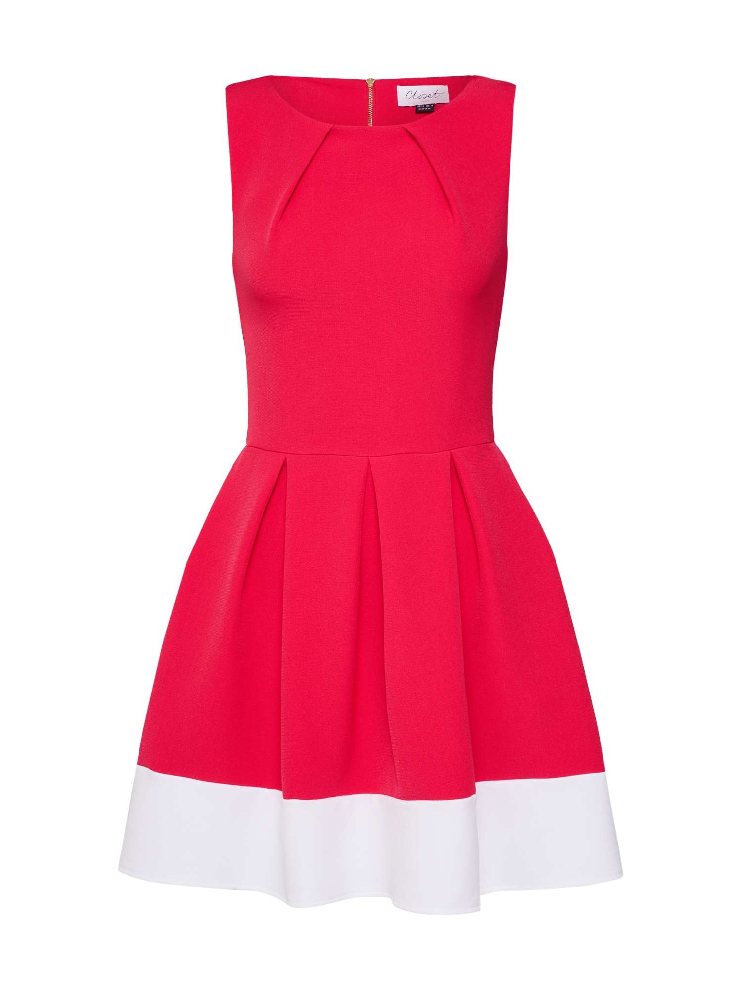 Koktejlové šaty pink bílá Closet London