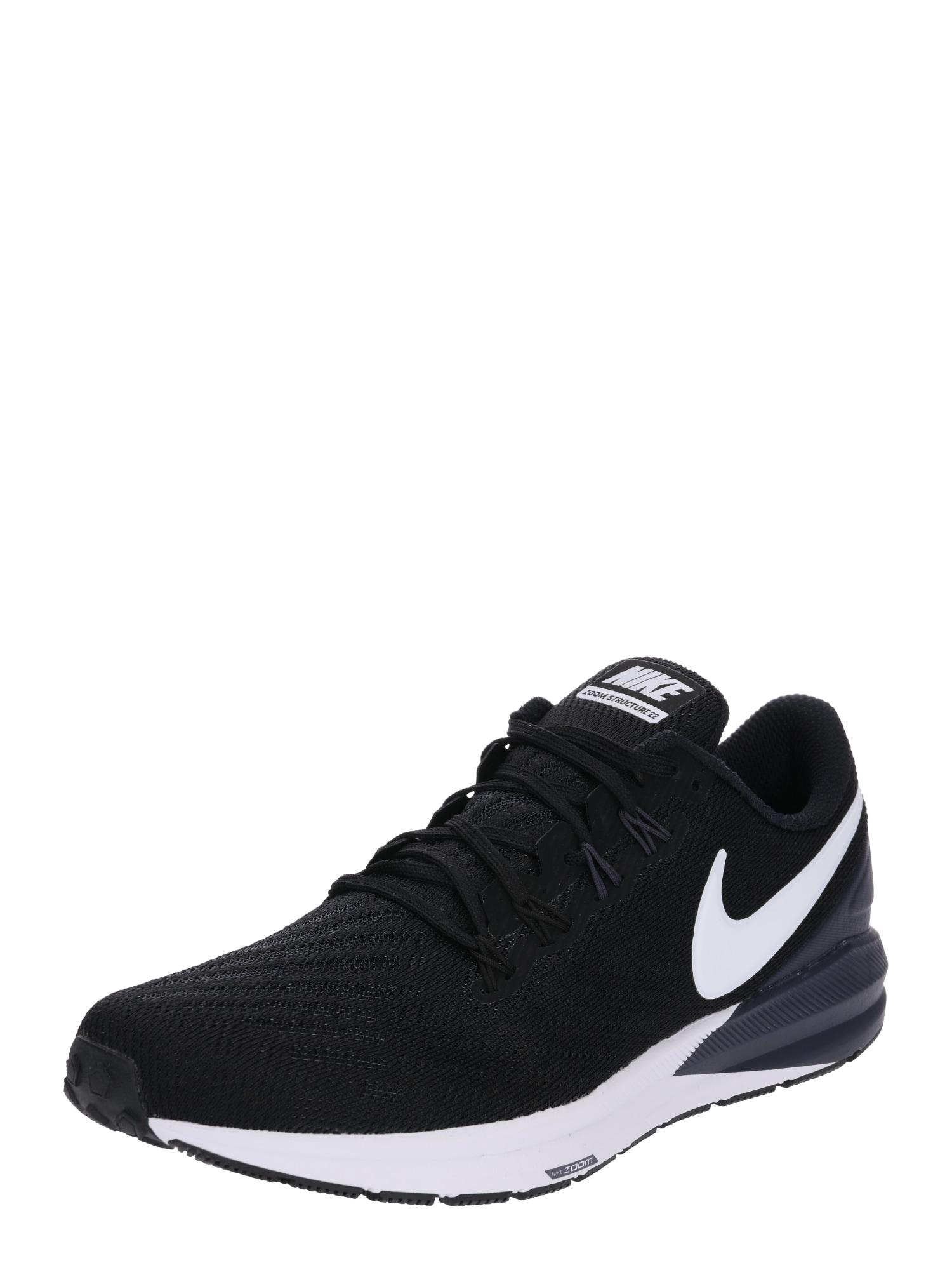 NIKE Bėgimo batai 'Air Zoom Structure 22' balta / juoda