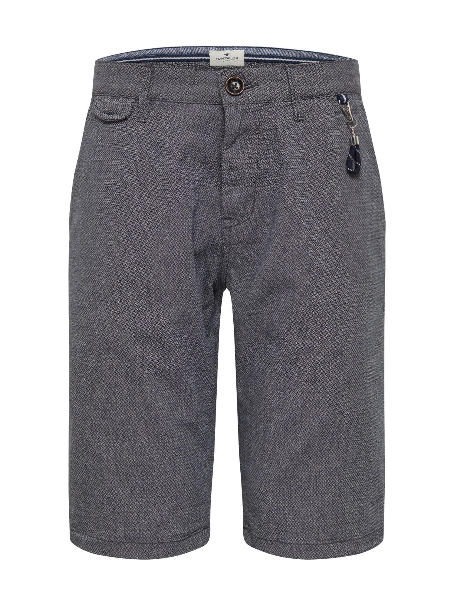 TOM TAILOR Chino stiliaus kelnės mėlyna / melsvai pilka