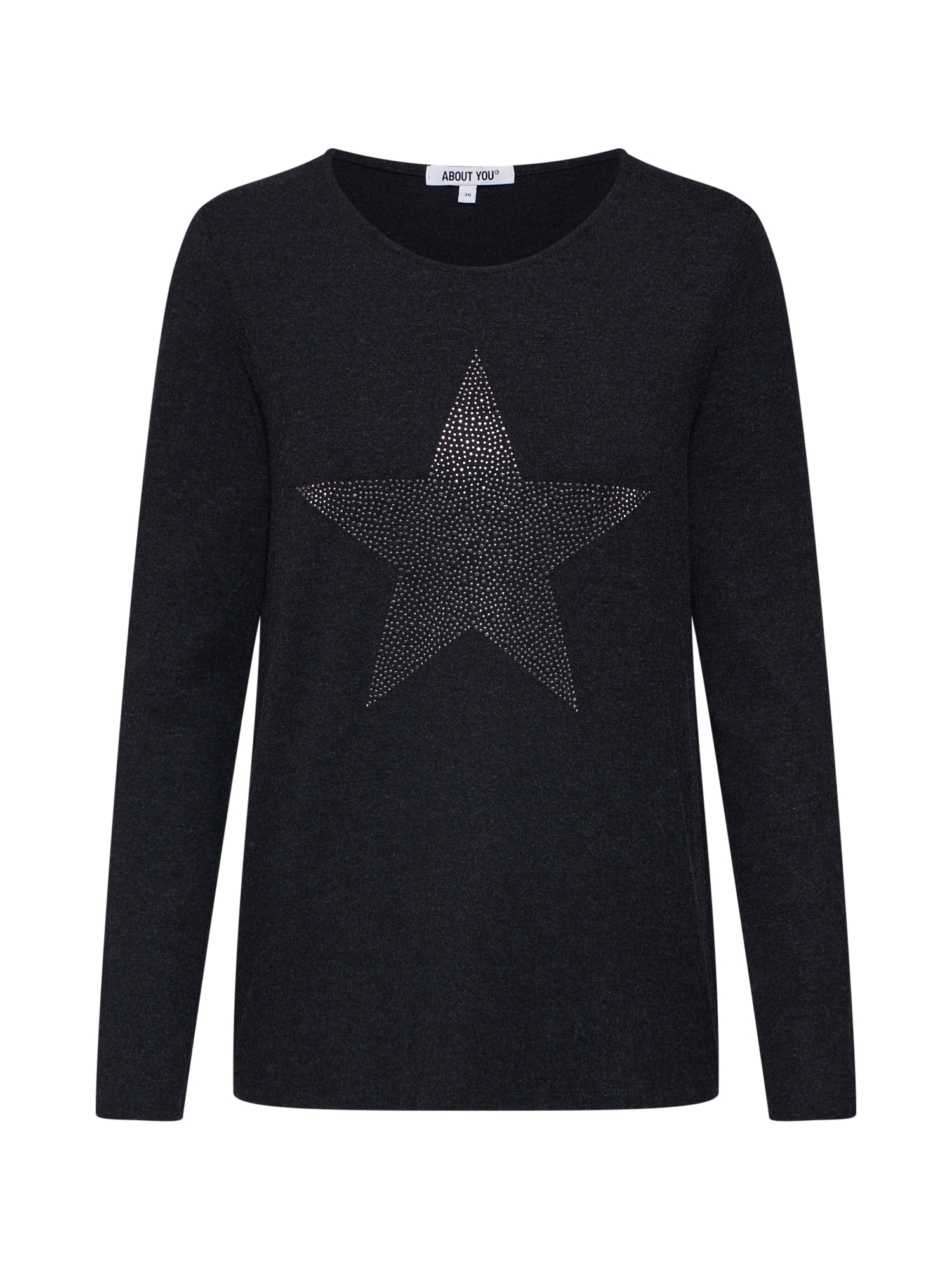 ABOUT YOU Marškinėliai 'Lisa' tamsiai pilka