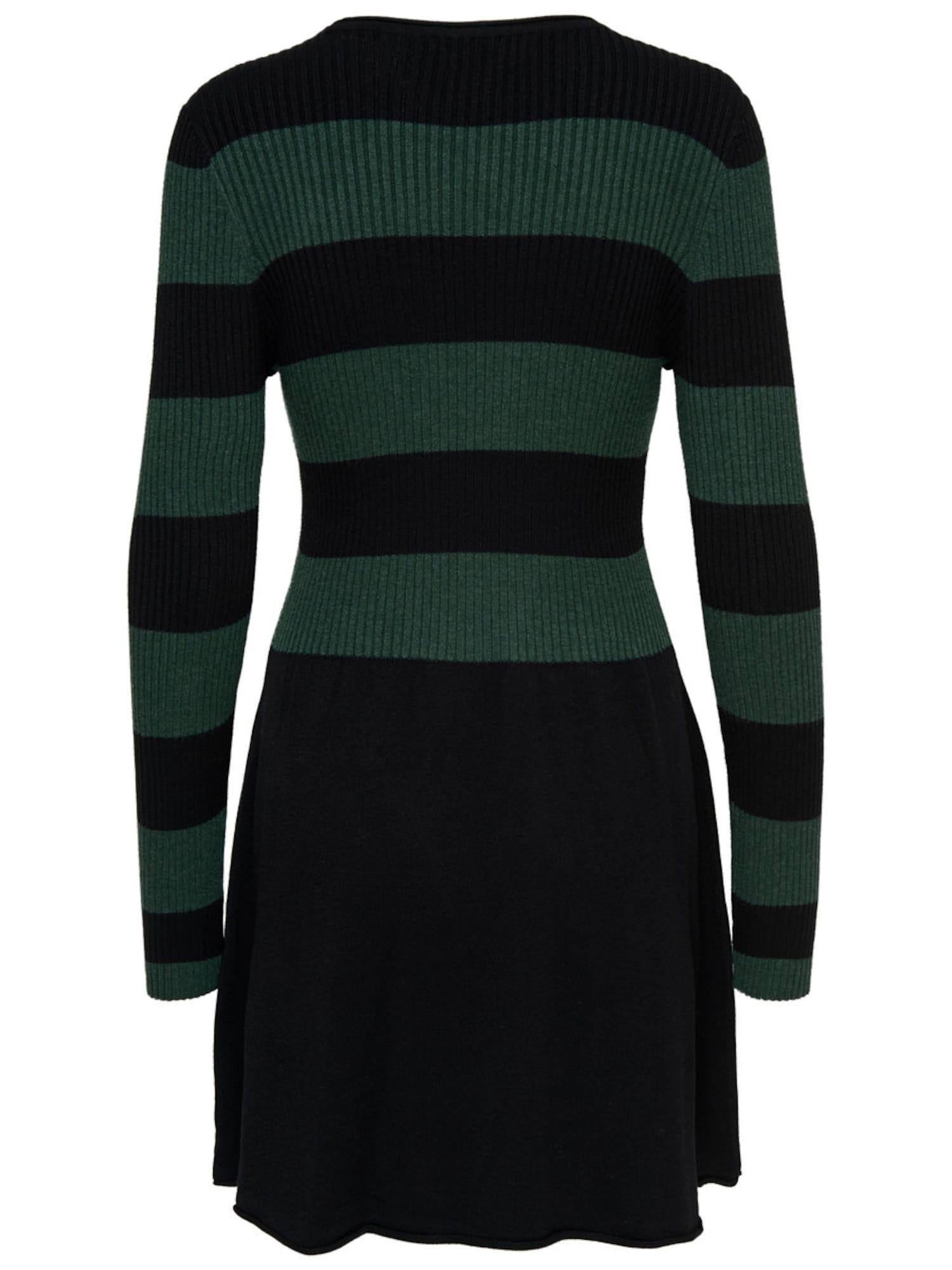 ONLY Kleid tanne / schwarz - Schwarzes Kleid