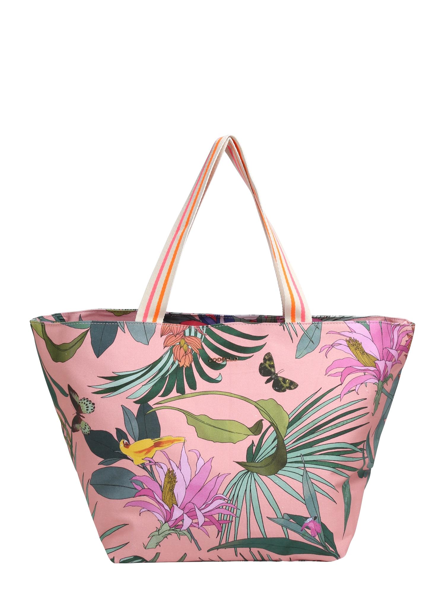 CODELLO Paplūdimio krepšys 'TROPICAL PUNCH RESORT' rožių spalva / mišrios spalvos