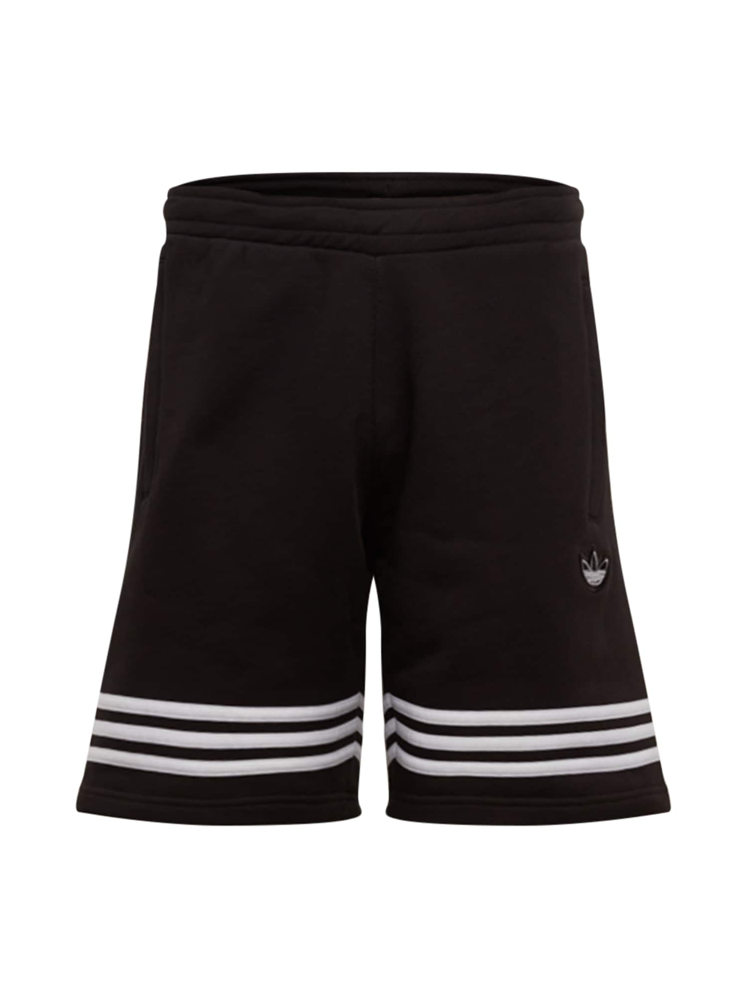 ADIDAS ORIGINALS Kelnės 'OUTLINE SHORT' balta / juoda