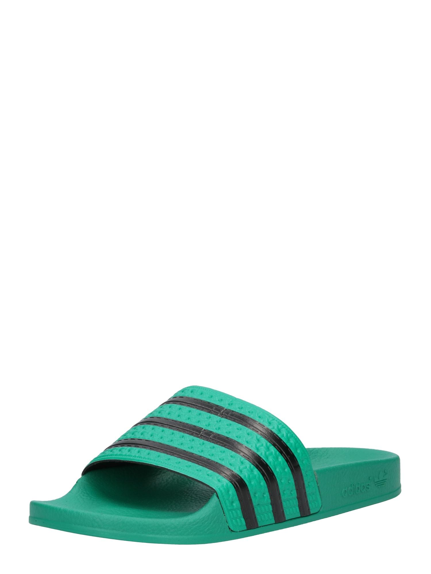 Pantofle Adilette olivová černá ADIDAS ORIGINALS