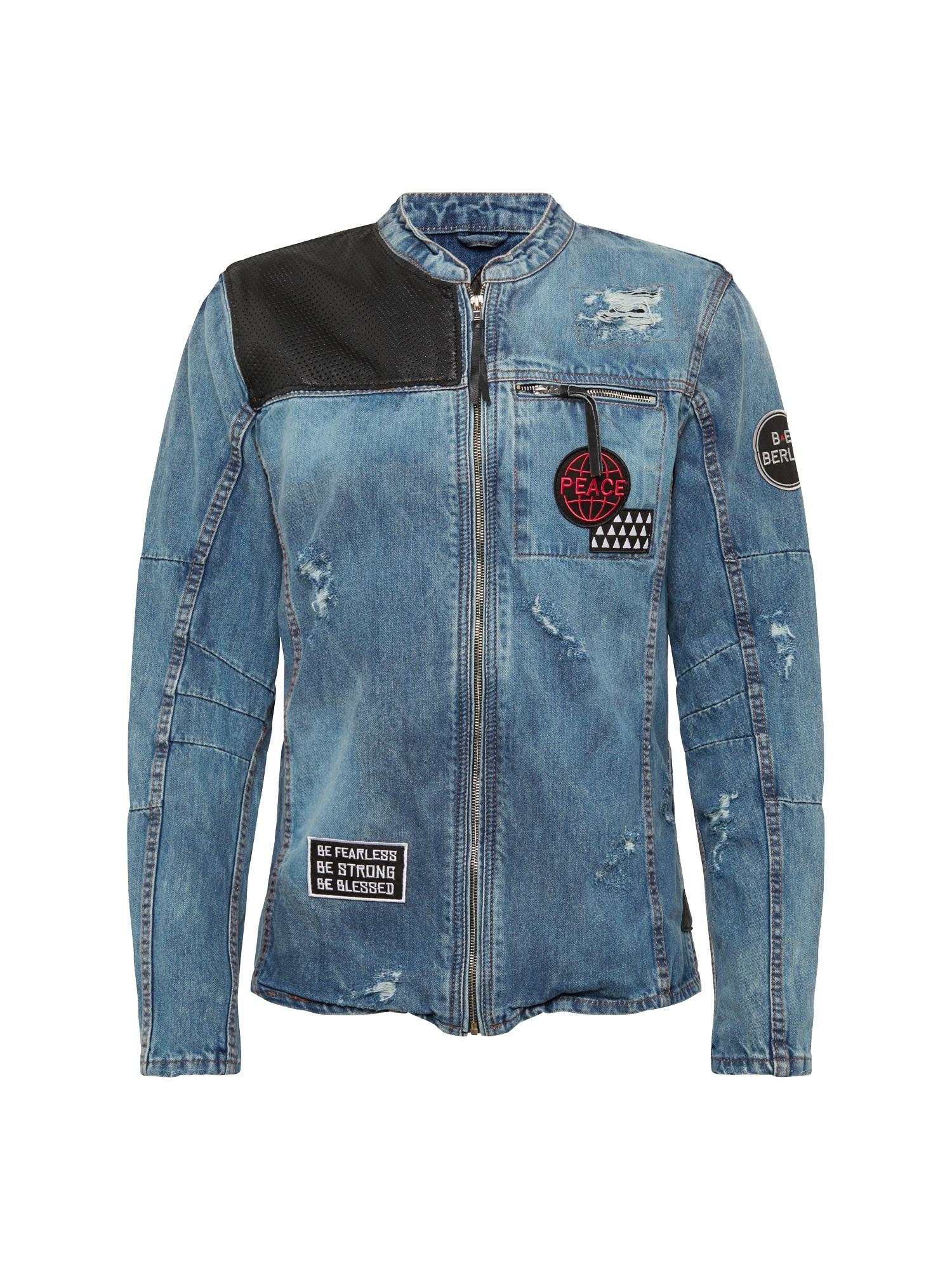 Přechodná bunda BEphil D modrá džínovina BE EDGY
