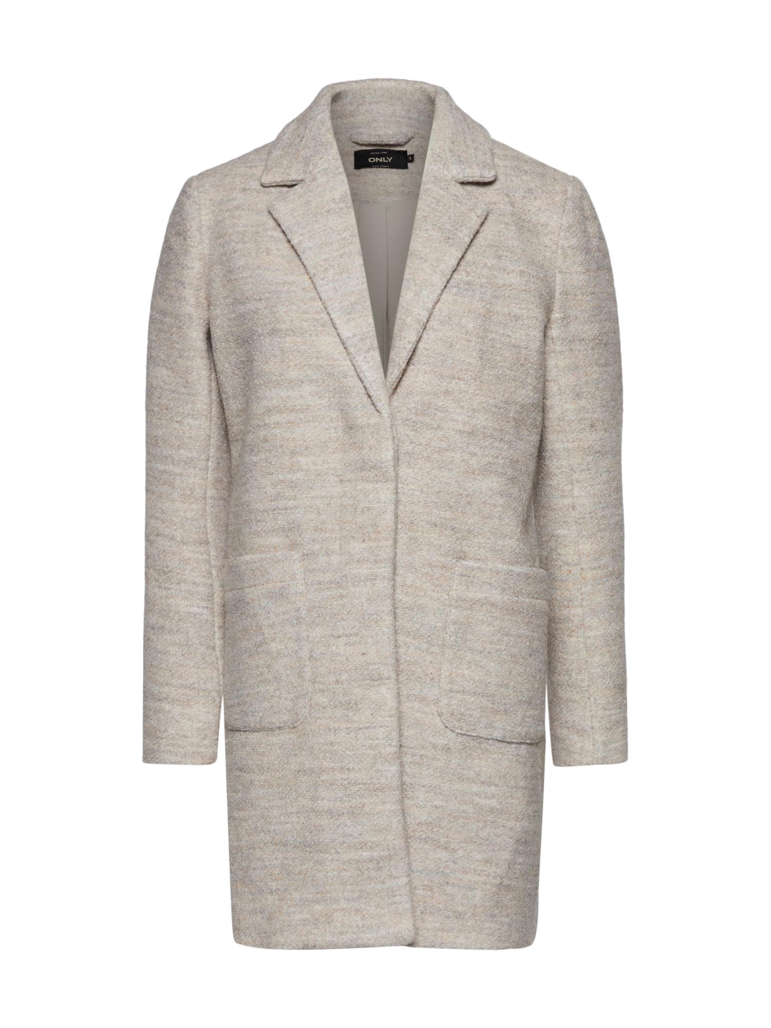 Zimní kabát STONE WOOL COAT tmavě béžová ONLY