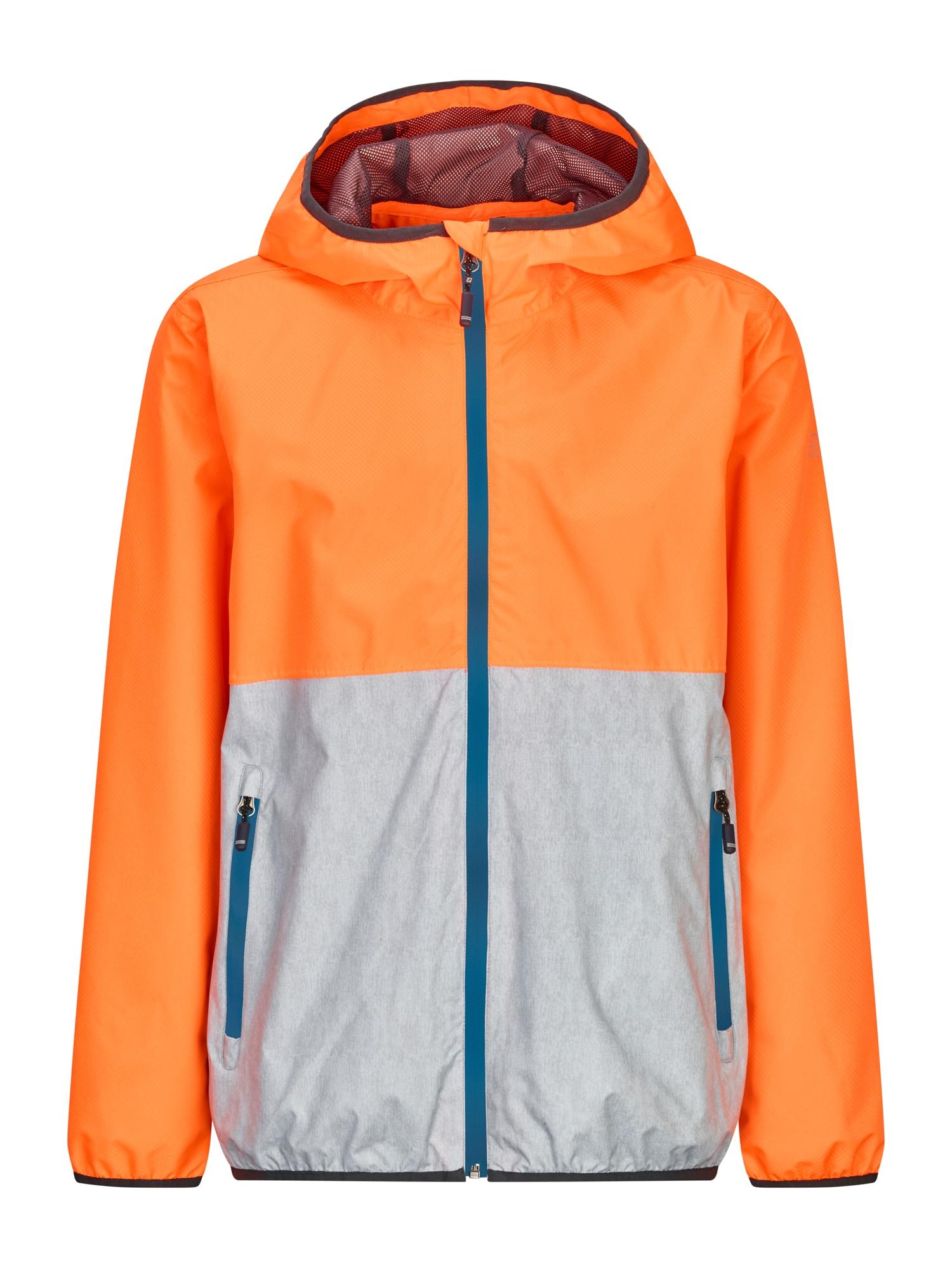 KILLTEC Funkčná bunda 'HAIGO COLOURBLOCK JR'  tyrkysová / oranžová / strieborná