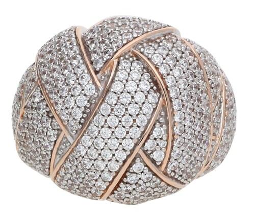 Ringe für Frauen - ESPRIT Ring Lilaia mit Zirkonia Steinbesatz ELRG92291B rosegold transparent  - Onlineshop ABOUT YOU