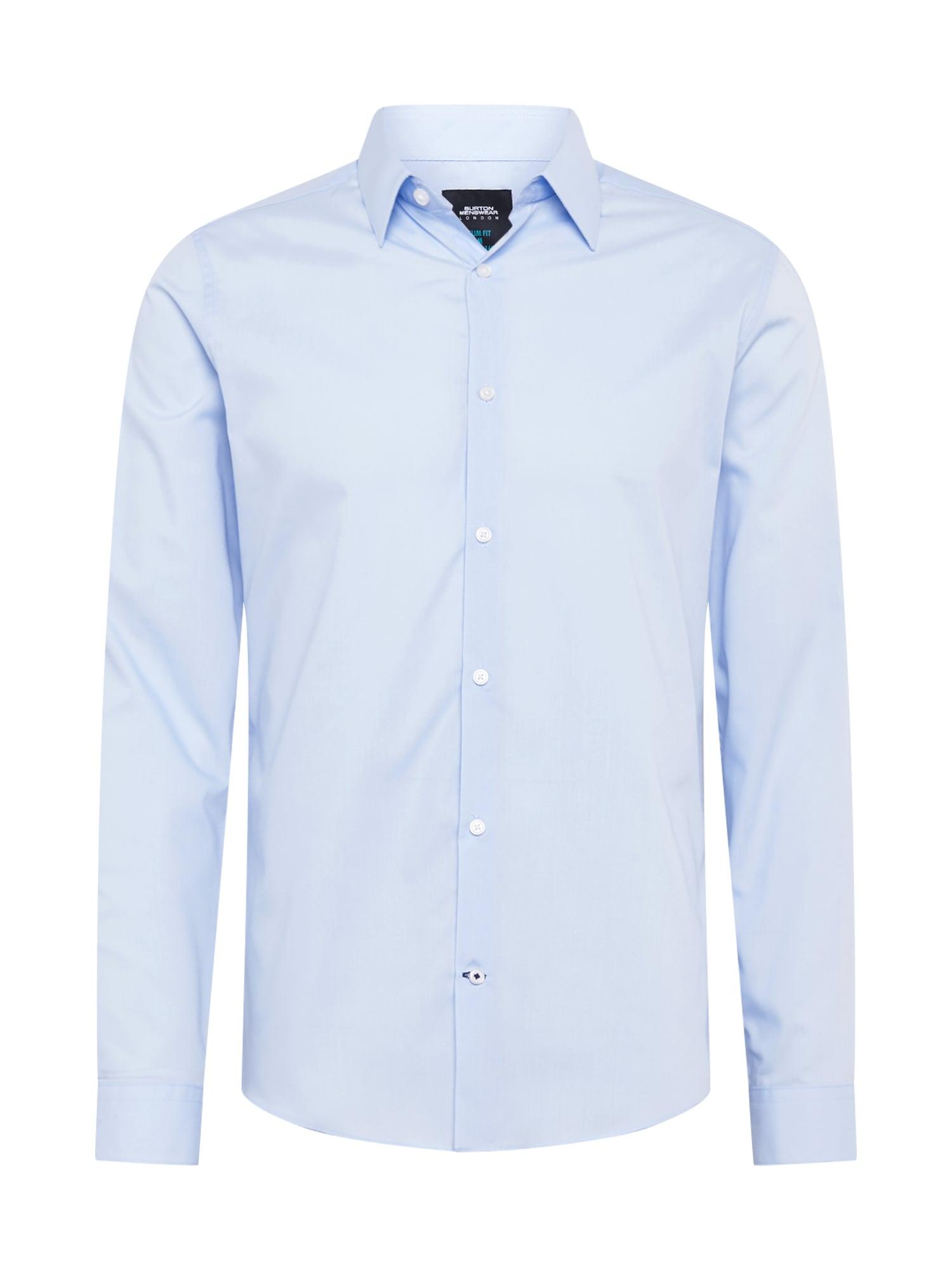 BURTON MENSWEAR LONDON Dalykinio stiliaus marškiniai šviesiai mėlyna