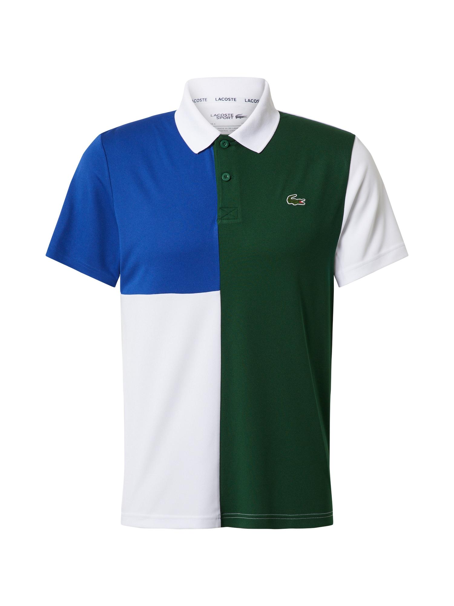 Lacoste Sport Sportiniai marškinėliai mėlyna / žalia / balta