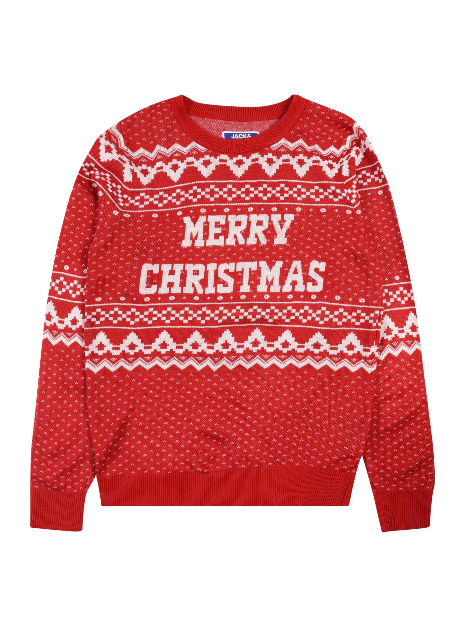 Jack & Jones Junior Megztinis raudona / balta
