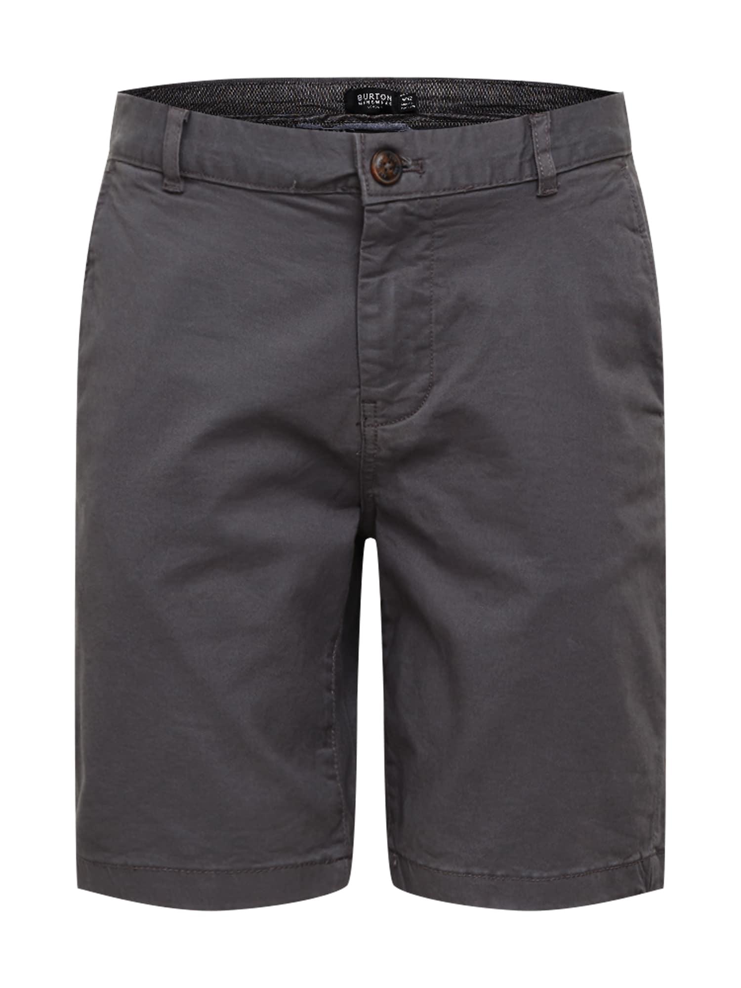 BURTON MENSWEAR LONDON Chino stiliaus kelnės pilka