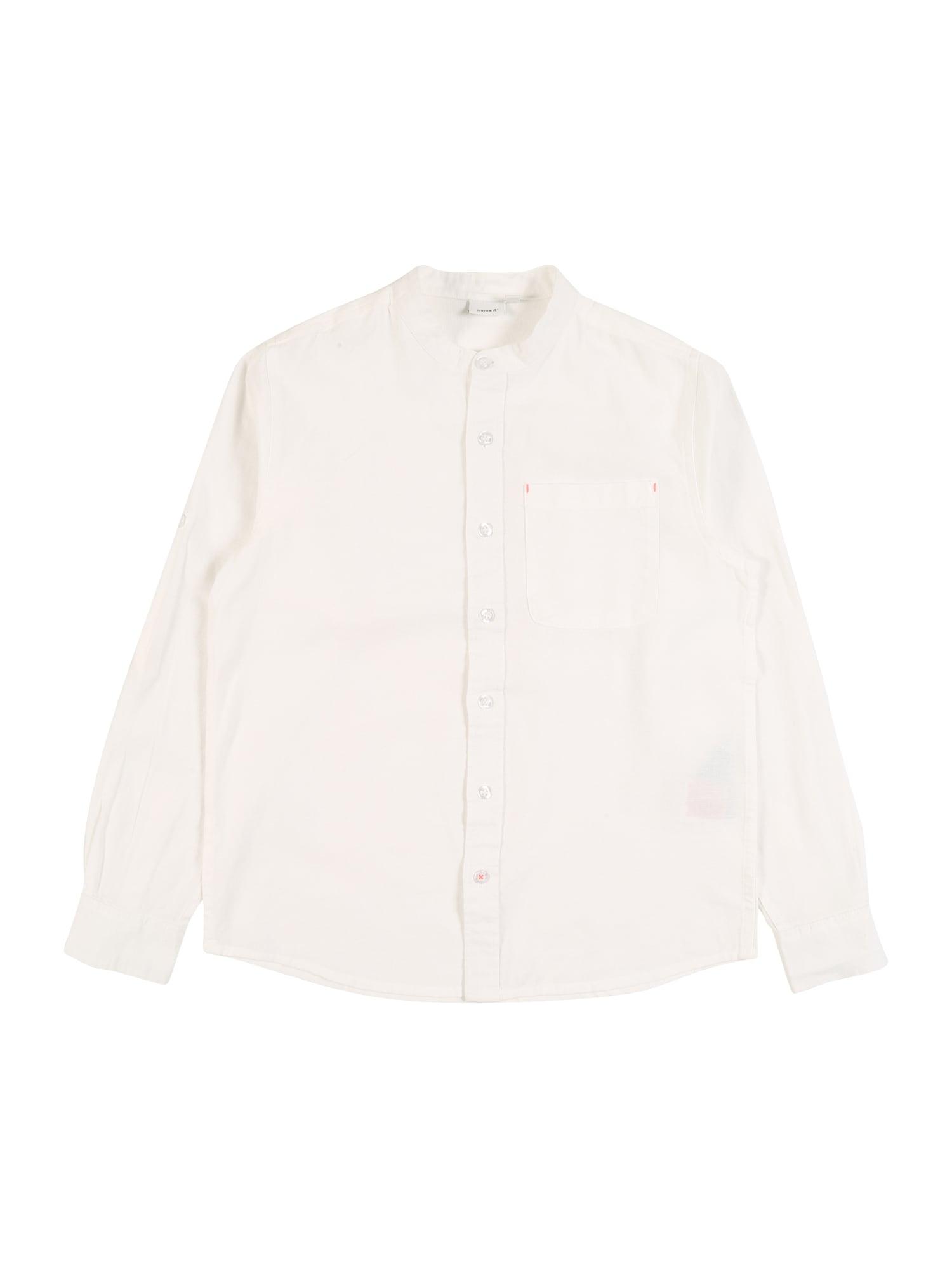 NAME IT Dalykiniai marškiniai 'NKMFISH' balta