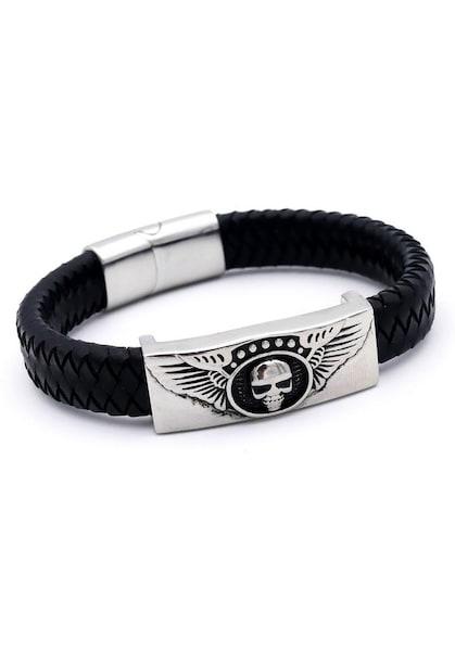 Armbaender - Armband 'Totenkopf' › J. Jayz › silbergrau schwarz  - Onlineshop ABOUT YOU