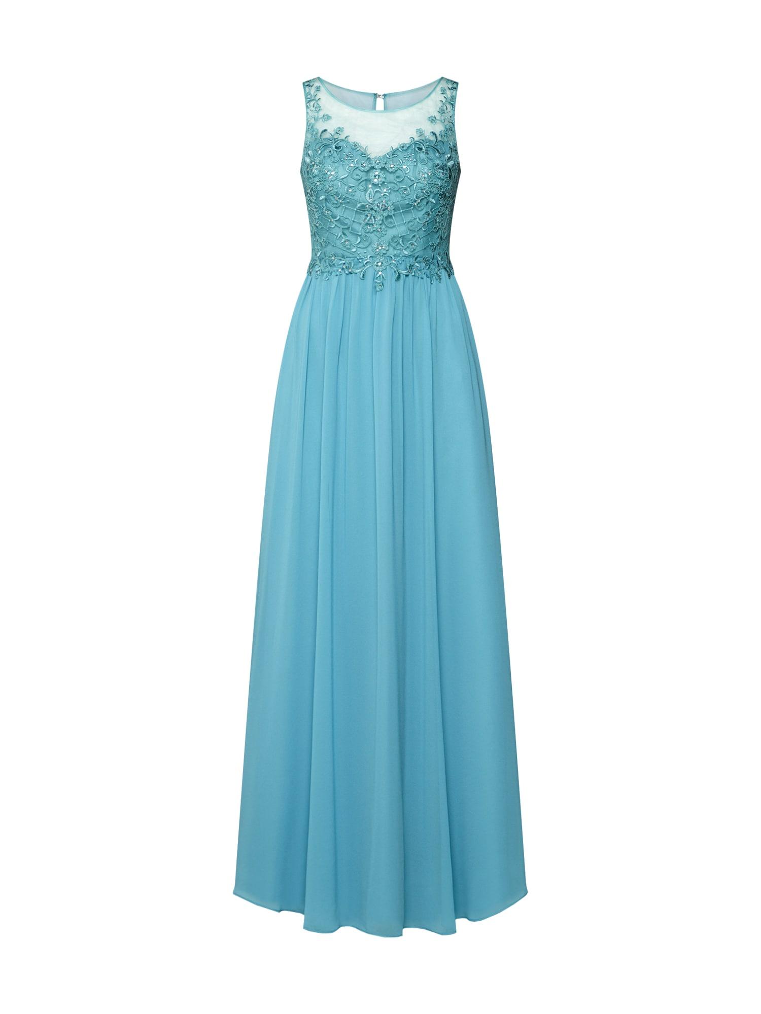 Společenské šaty aqua modrá Laona