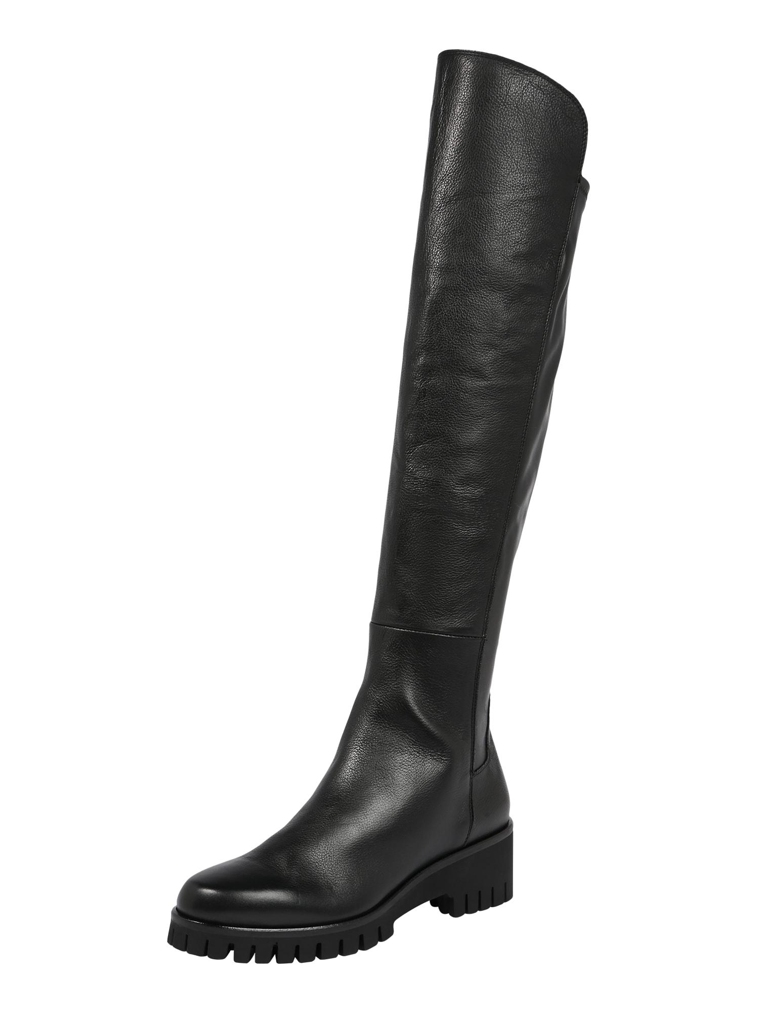 Donna Carolina Ilgaauliai batai virš kelių juoda