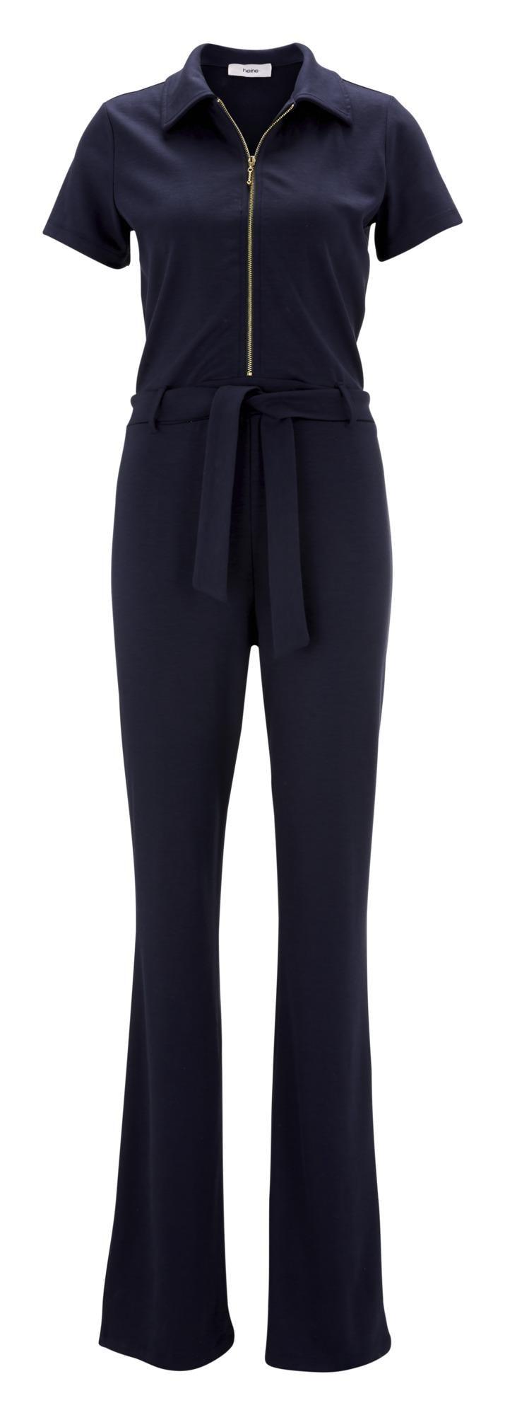 heine Moteriškas kostiumėlis su kelnėmis 'STYLE ' tamsiai mėlyna jūros spalva