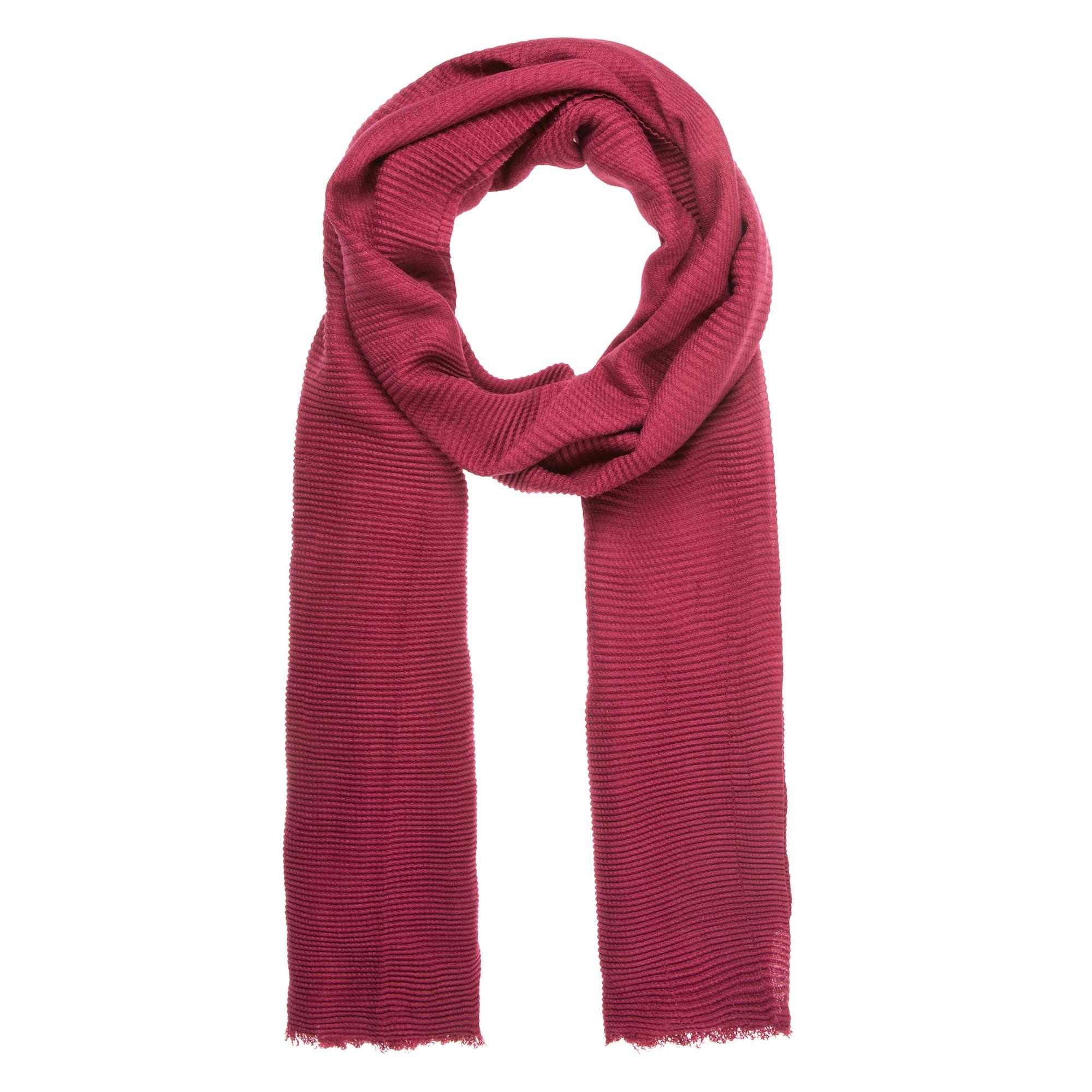Schals für Frauen - CODELLO Schal mit Faltenstruktur merlot  - Onlineshop ABOUT YOU