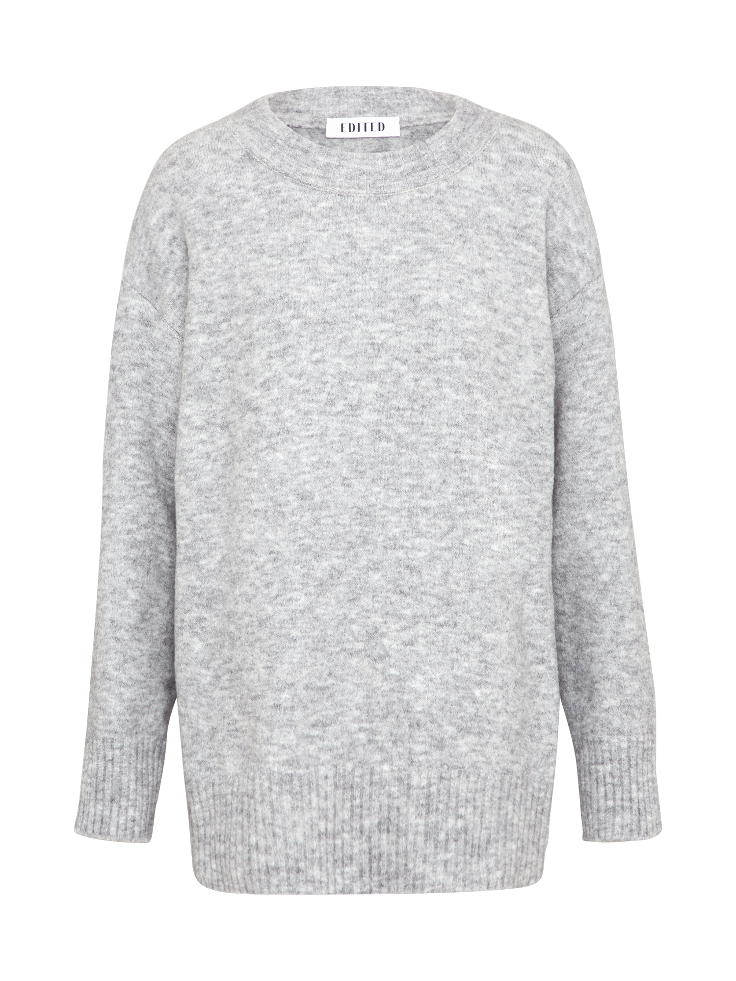 EDITED Laisvas megztinis 'Luca' margai pilka